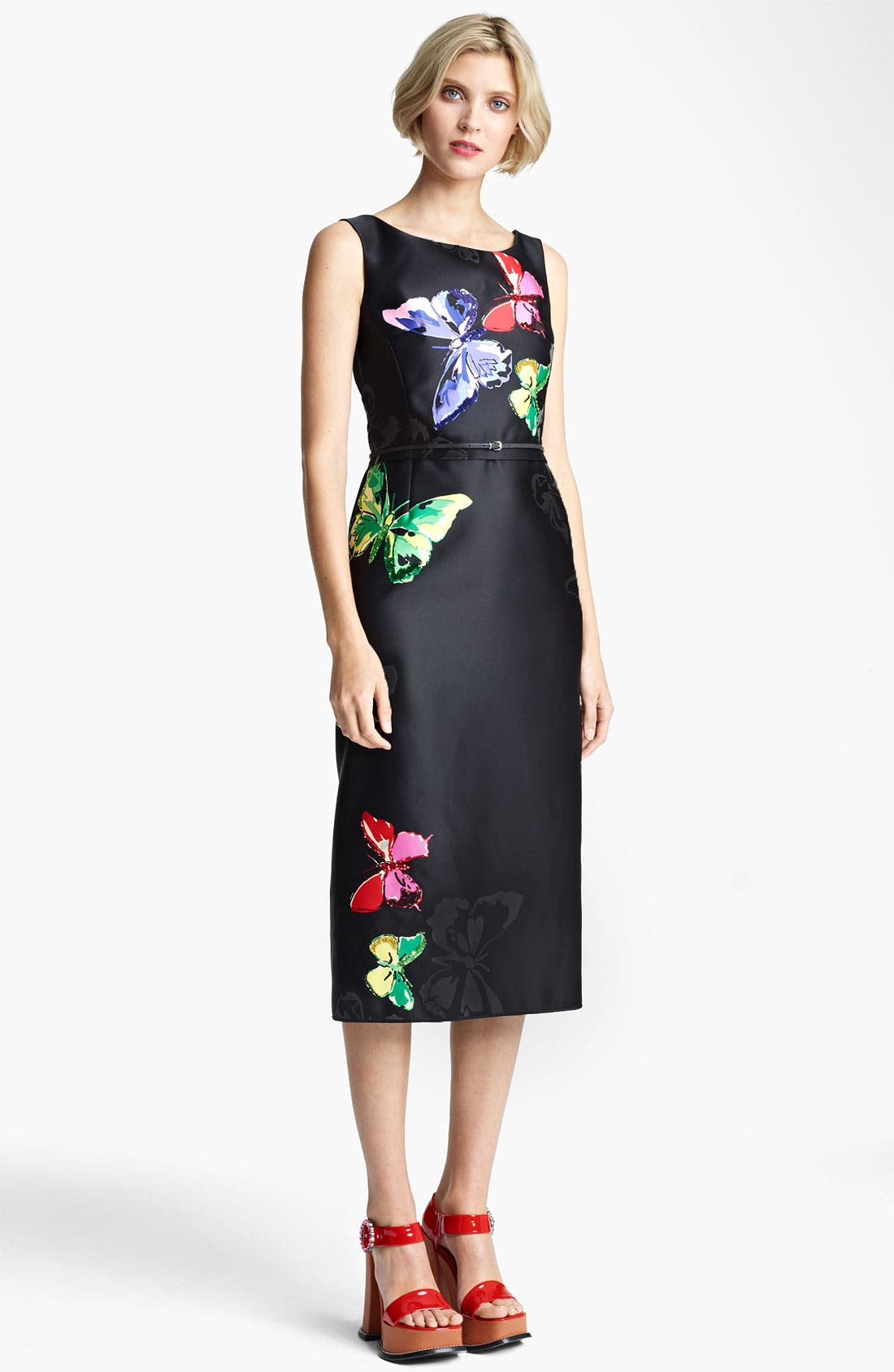 Main Image - MARC JACOBS Belted Butterfly Print Dress