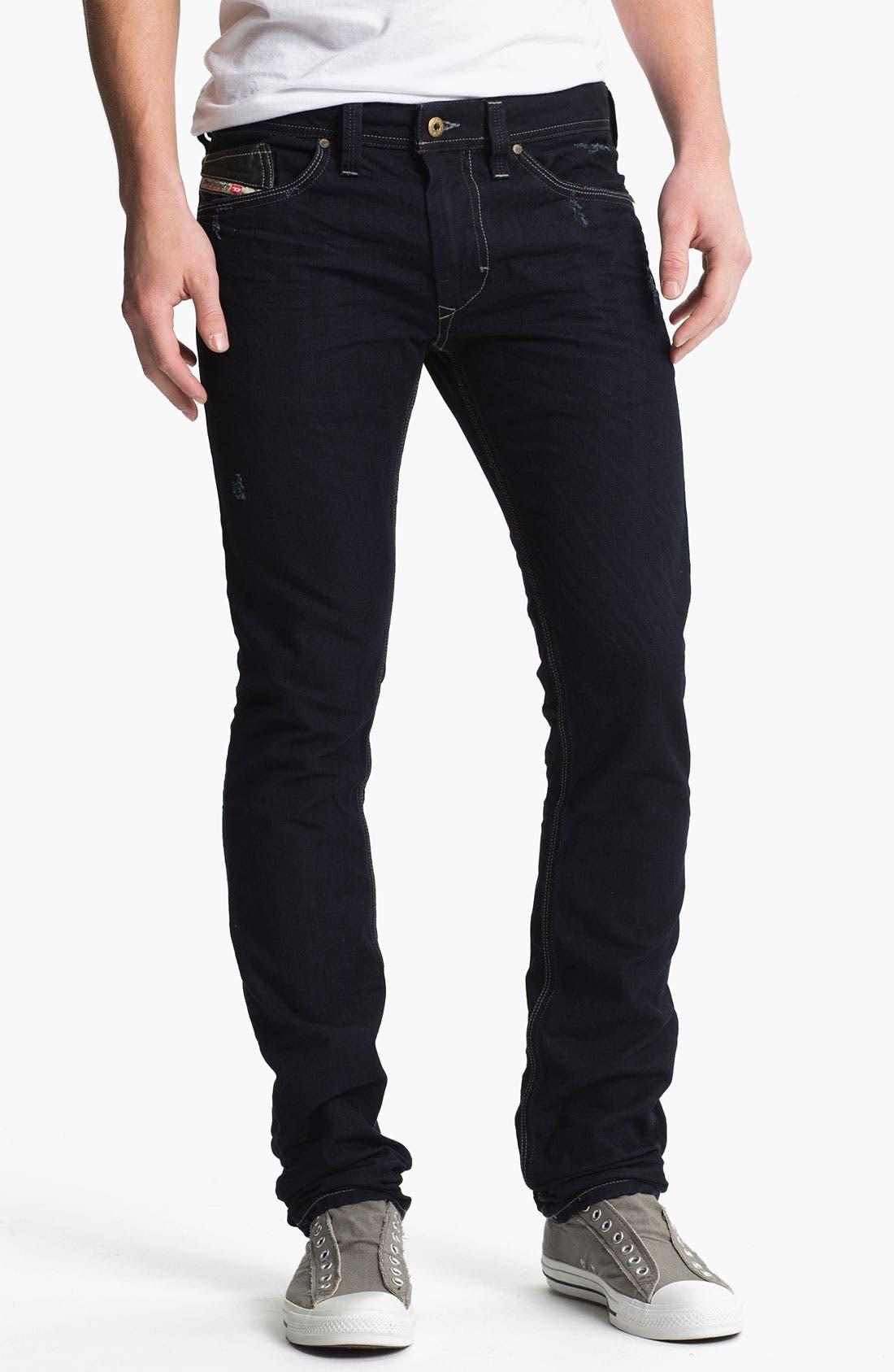 Alternate Image 2  - DIESEL® 'Thanaz' Slim Skinny Leg Jeans (0601K)