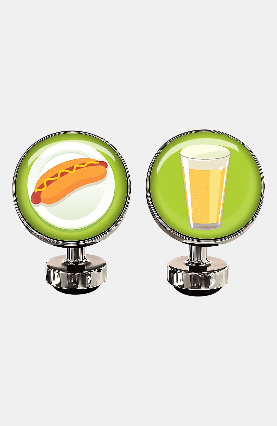 Alternate Image 1 Selected - Würkin Stiffs 'Hot Dog & Beer' Round Cuff Links