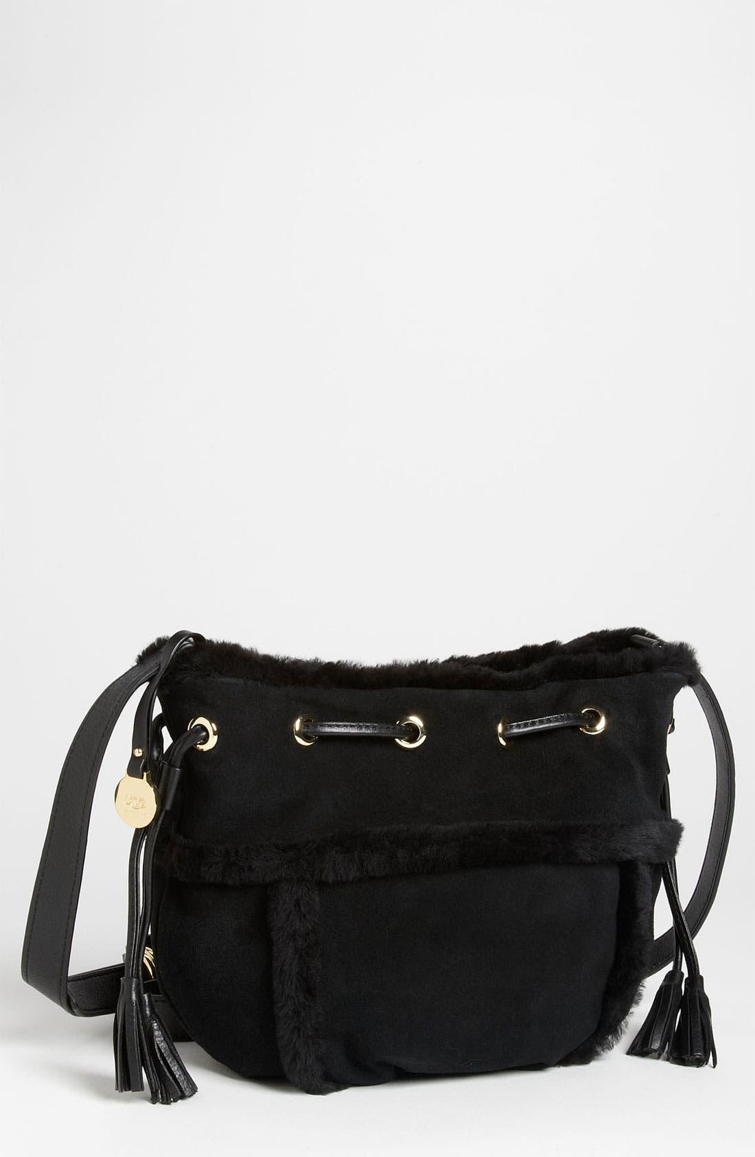 Alternate Image 1 Selected - UGG® Australia 'Quinn - Small' Drawstring Crossbody Bag