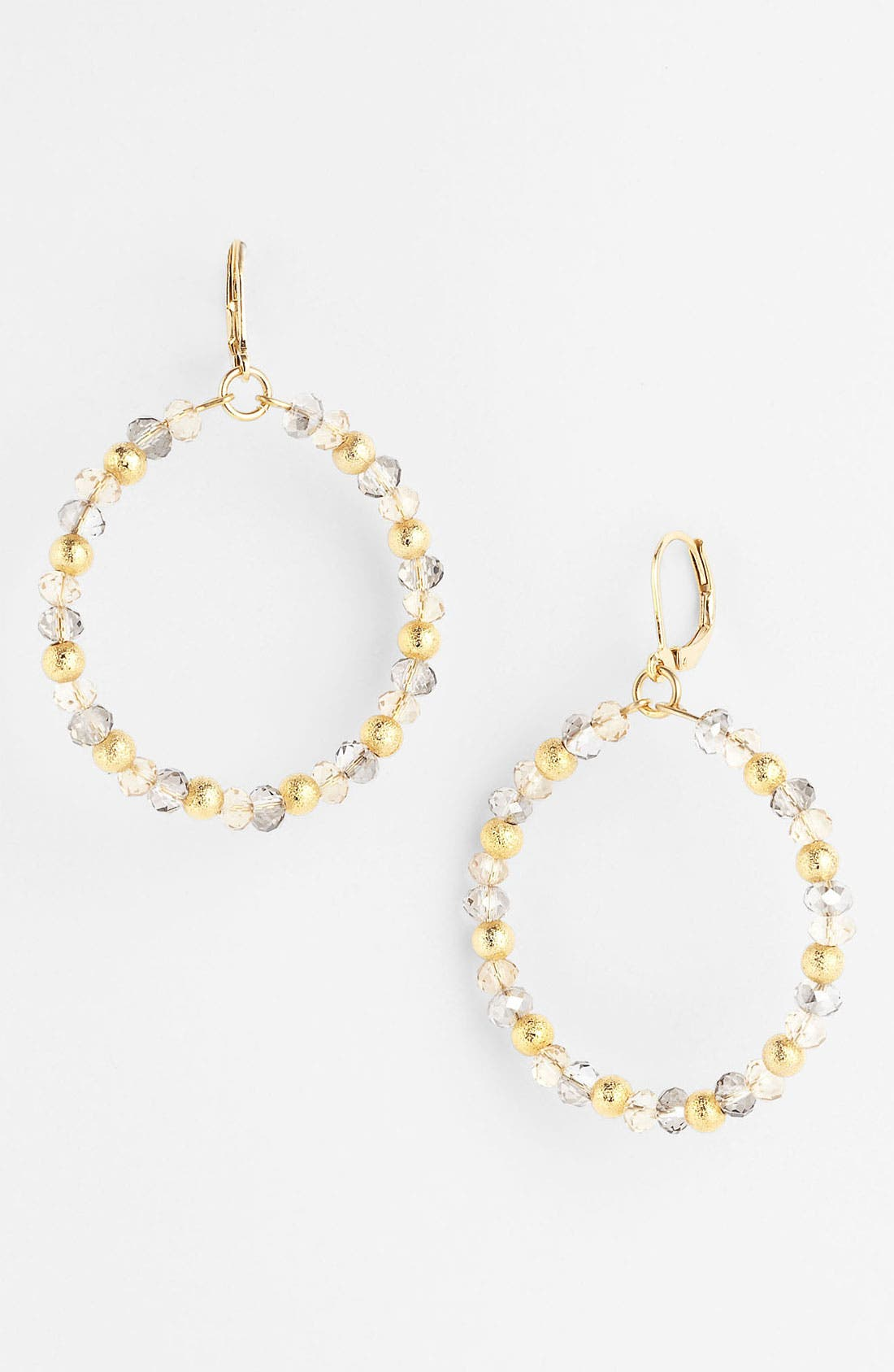 Alternate Image 1 Selected - Nordstrom 'Sand Dollar' Frontal Hoop Earrings