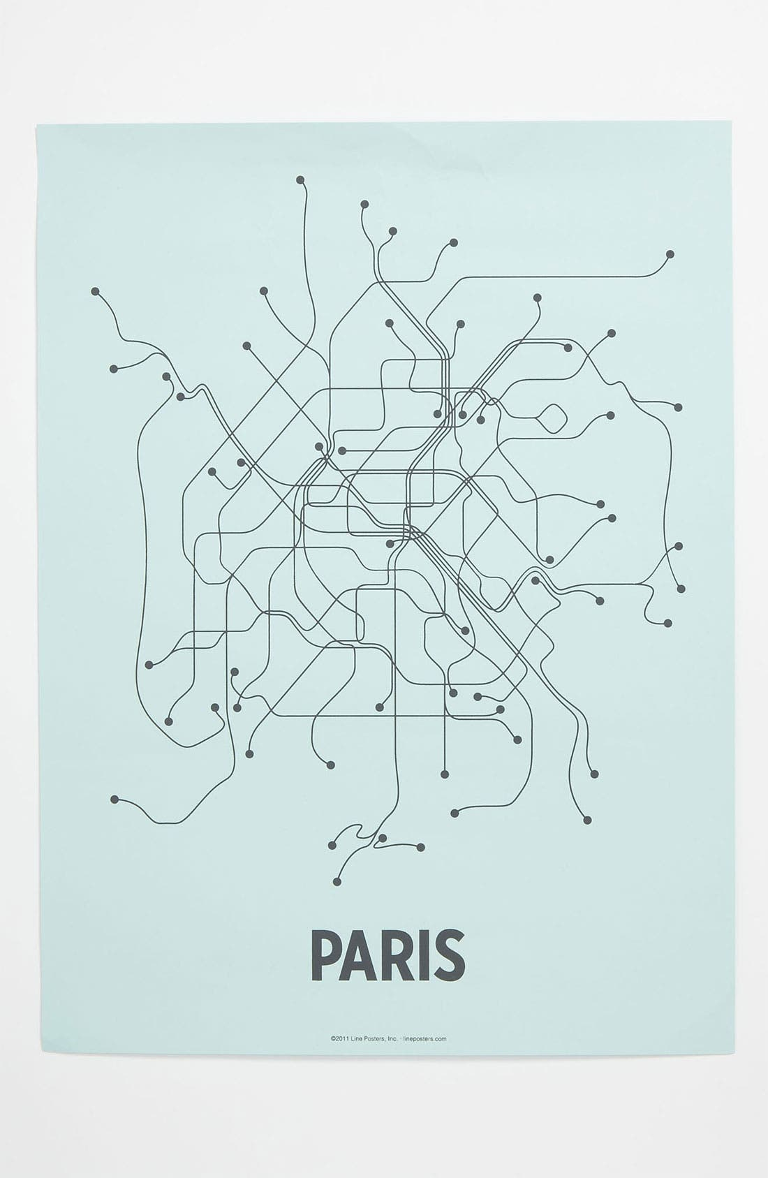 Alternate Image 1 Selected - Line Posters 'Paris Transit System' Print