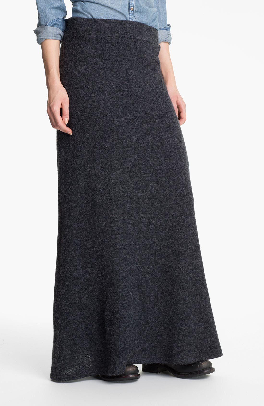 Alternate Image 1 Selected - Lily White Knit Maxi Skirt (Juniors)