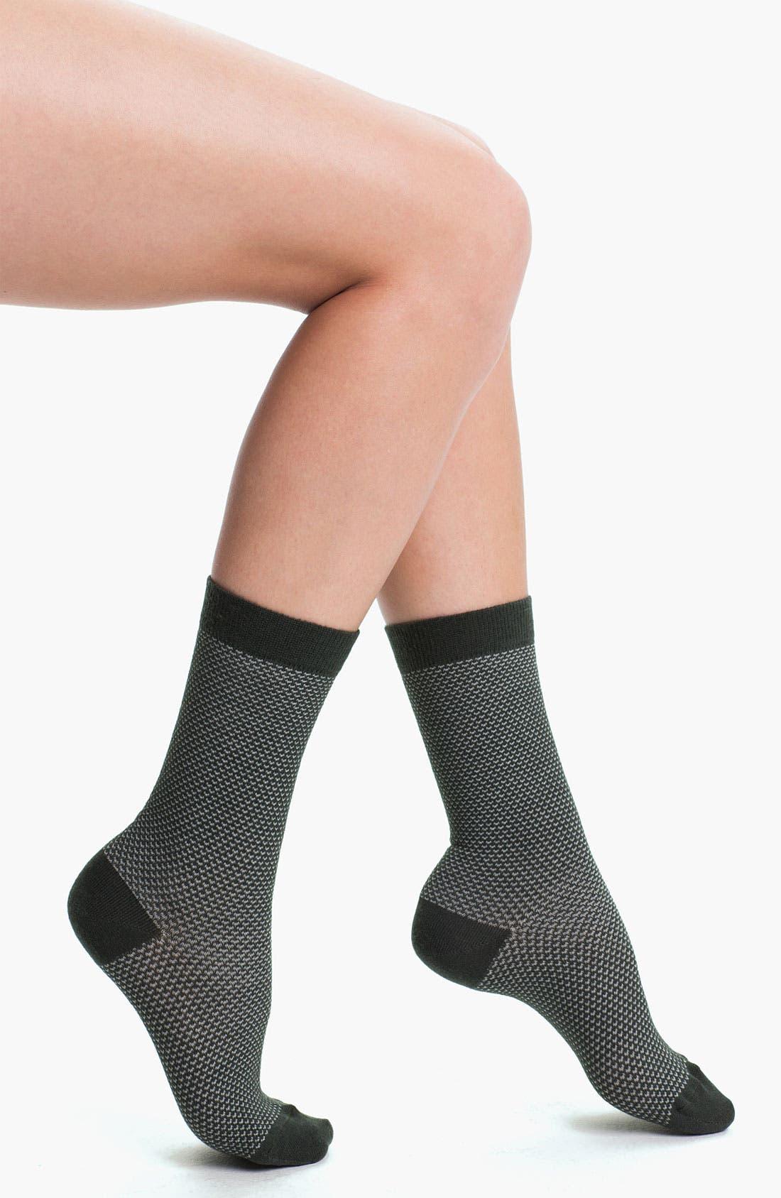 Alternate Image 1 Selected - Nordstrom Geometric Merino Blend Crew Socks