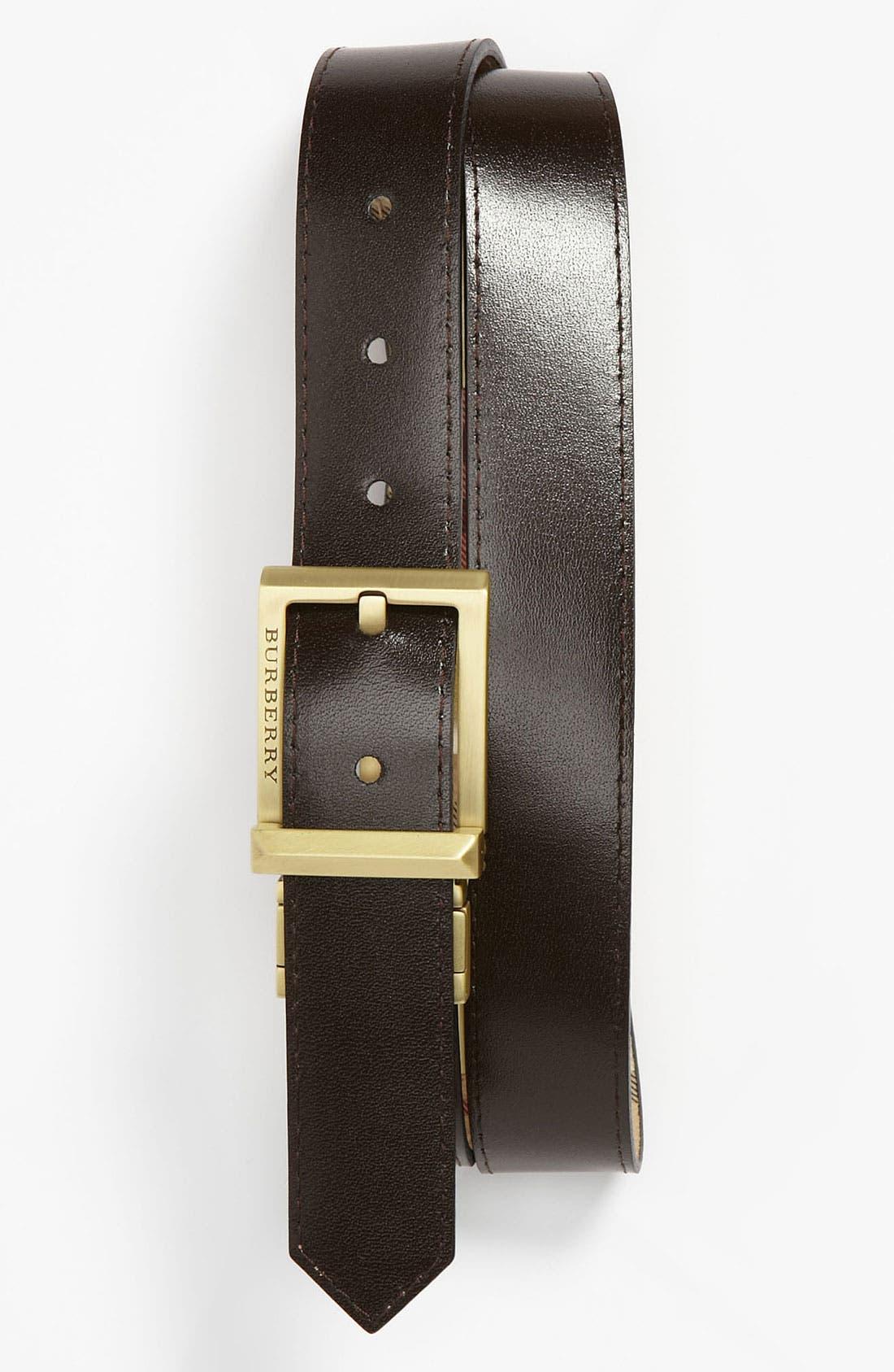 Alternate Image 2  - Burberry Reversible Belt