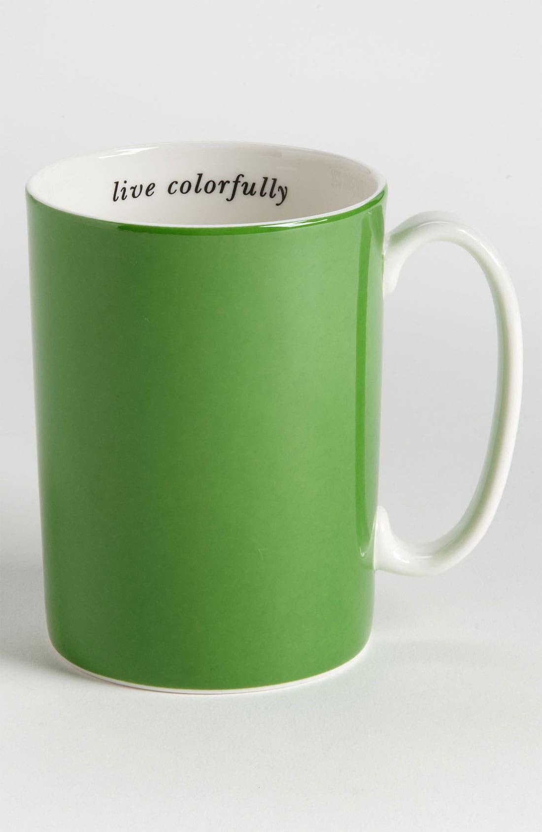 Main Image - kate spade new york 'say the word - live colorfully' porcelain mug