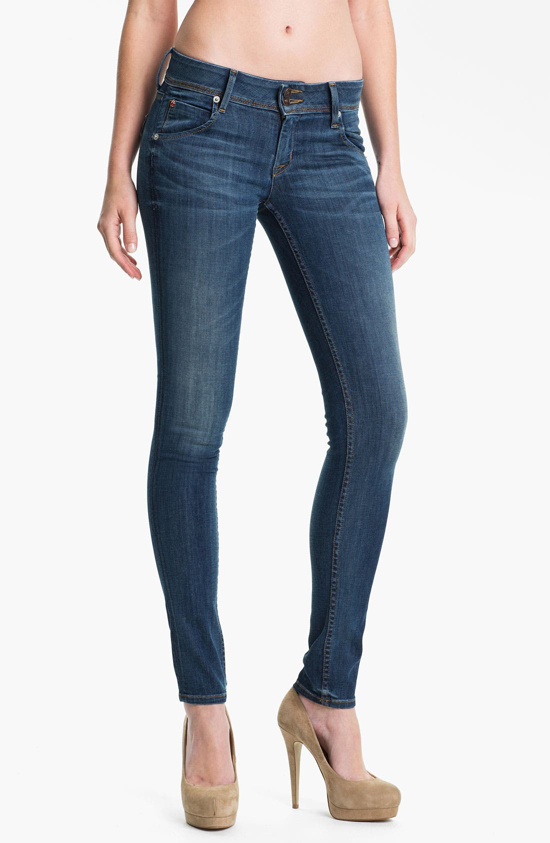 Alternate Image 1 Selected - Hudson Jeans 'Collin' Skinny Jeans (Stella)