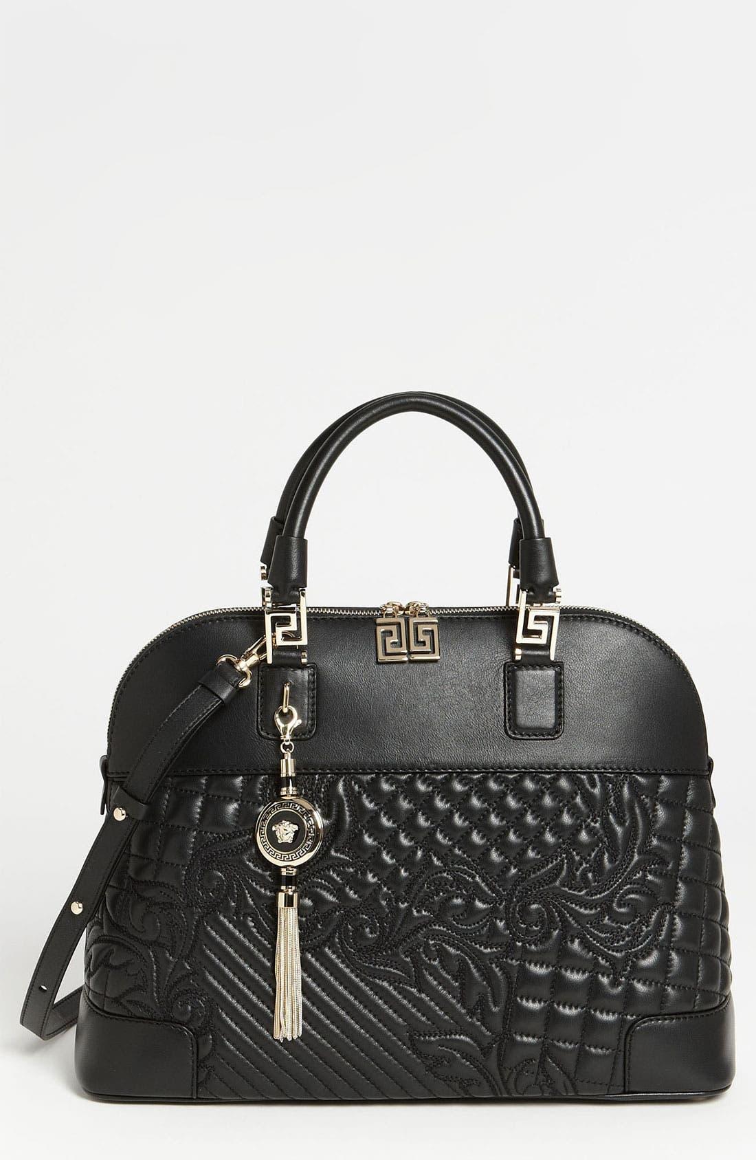 Main Image - Versace 'Vanitas' Embroidered Leather Satchel