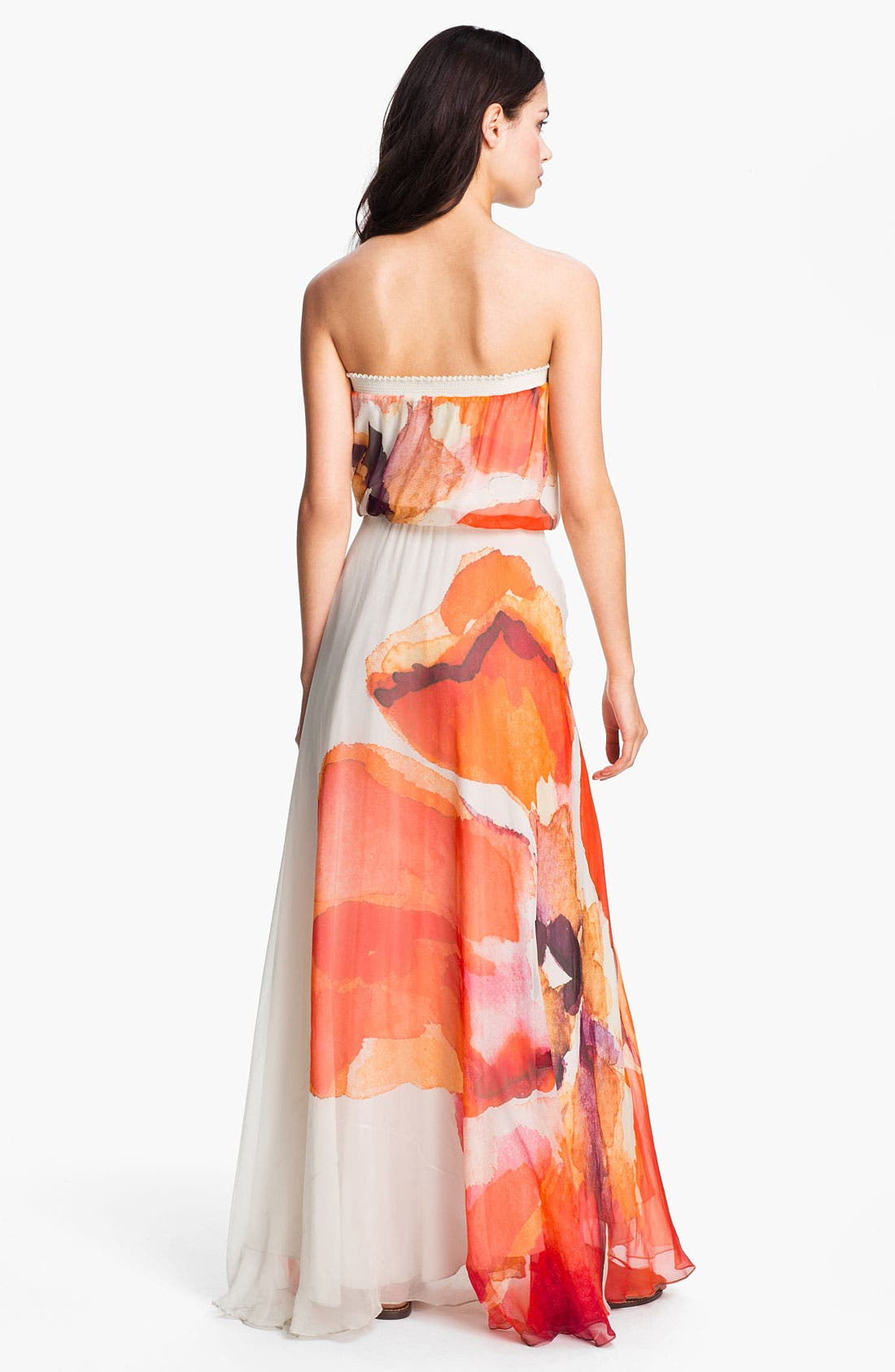 Alternate Image 2  - Haute Hippie Abstract Floral Chiffon Maxi Dress