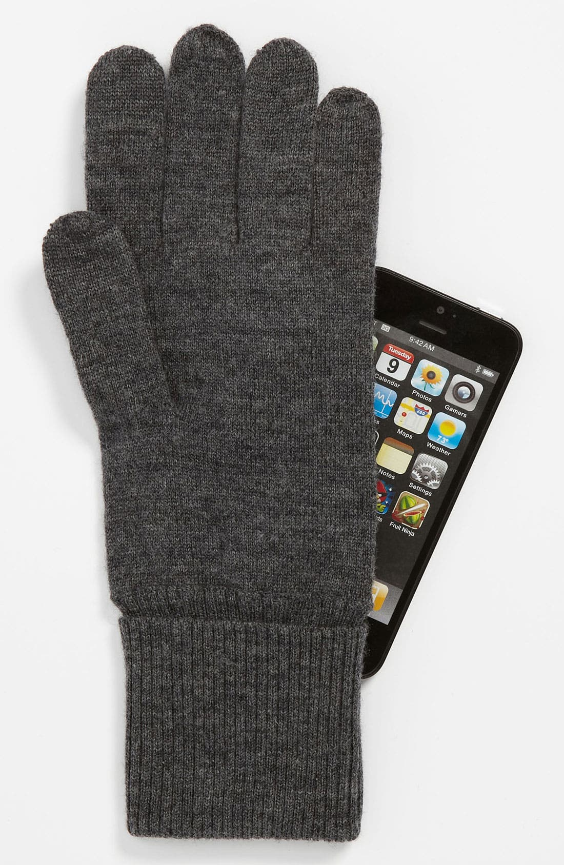 Alternate Image 2  - kate spade new york 'magnolia' knit tech glove