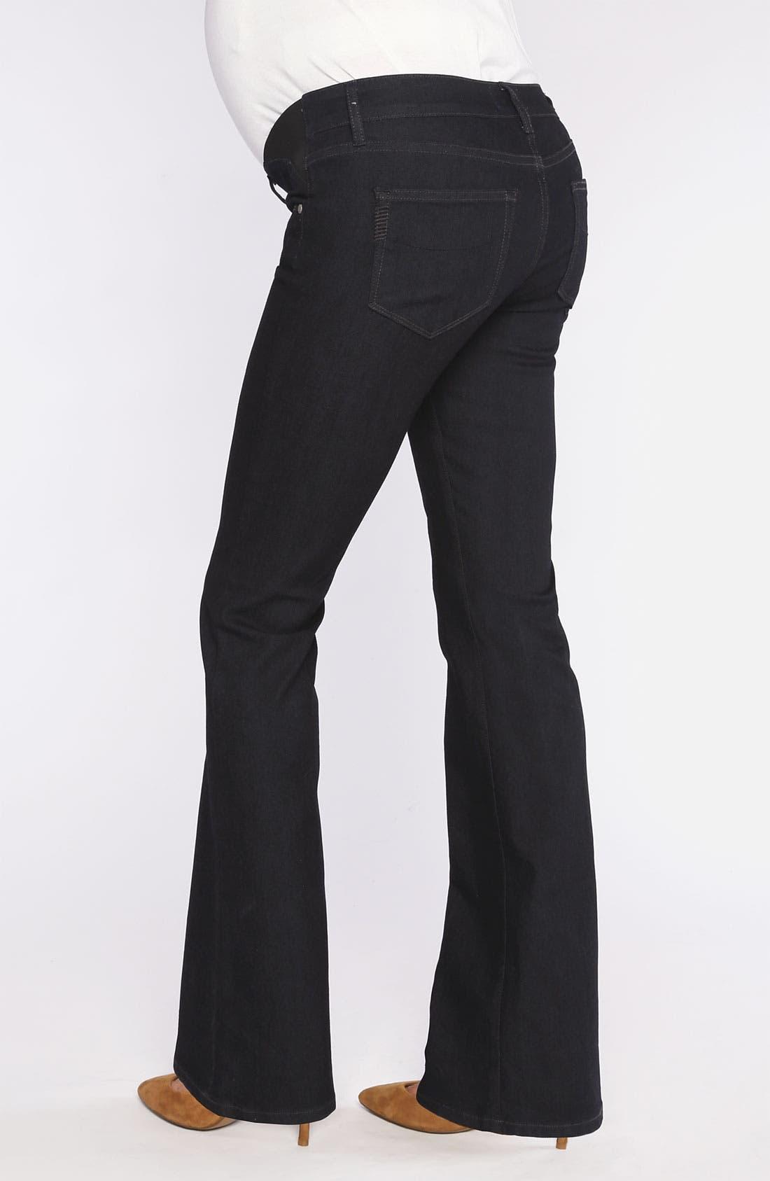 Alternate Image 2  - Paige Denim 'Skyline' Maternity Bootcut Jeans (Petite) (Twilight)
