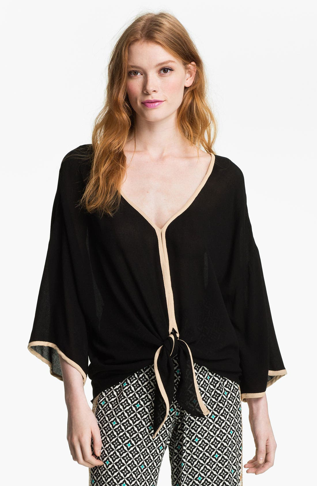 Alternate Image 1 Selected - Ella Moss 'Stella' Tie Hem Kimono Top