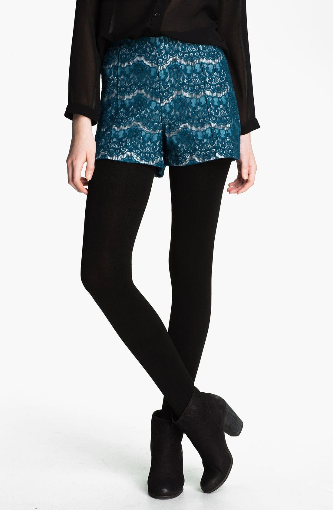 Main Image - Lily White High Waist Shorts (Juniors)