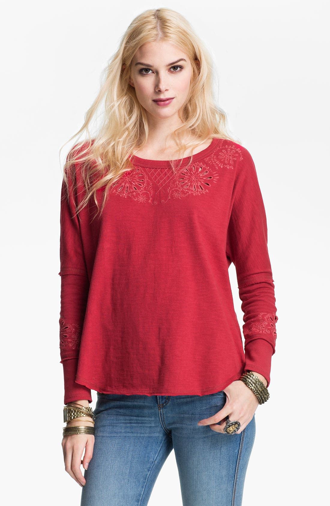 Alternate Image 2  - Free People 'Cozy' Embellished Pullover