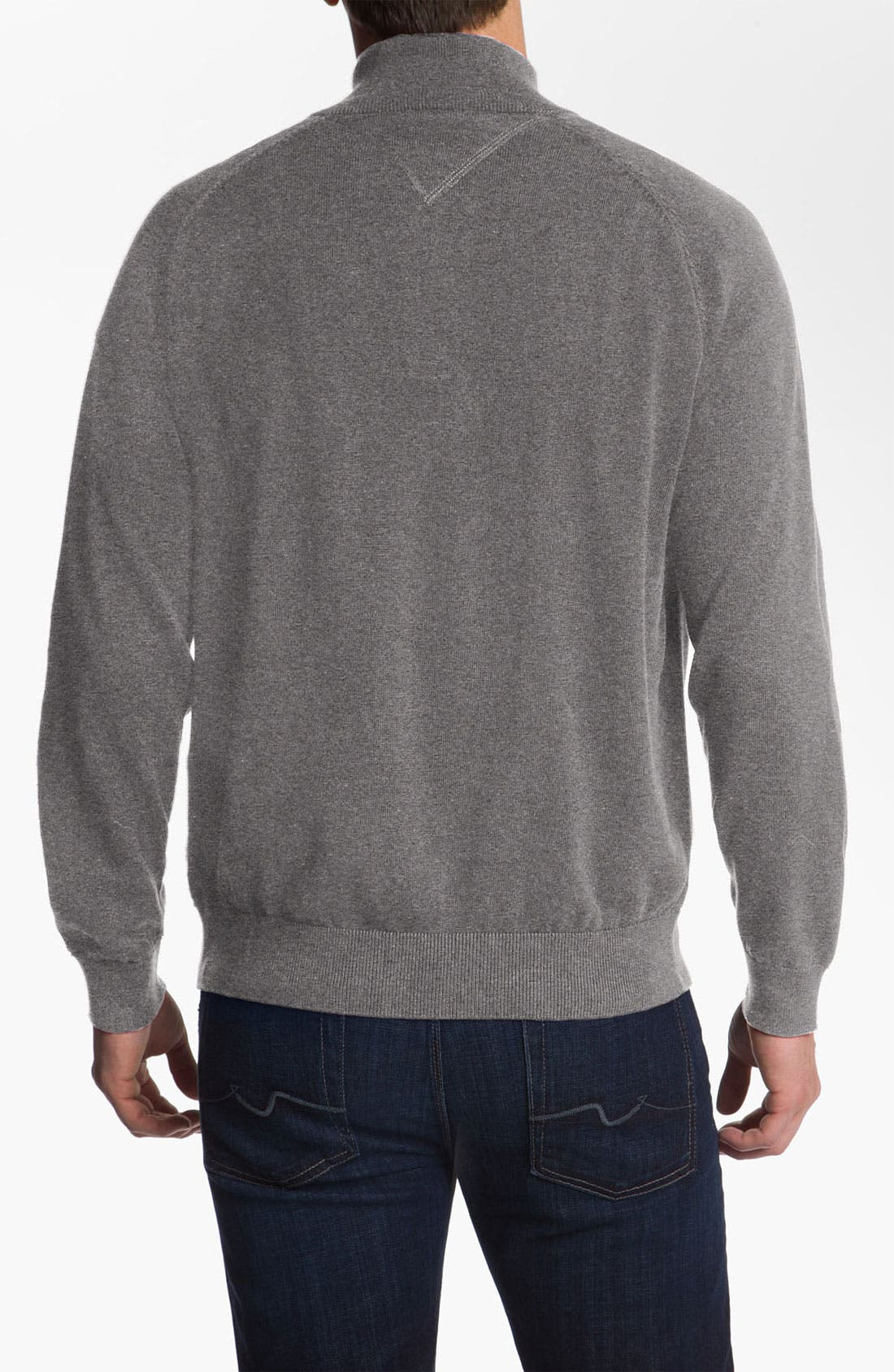 Alternate Image 2  - Lacoste Quarter Zip Regular Fit Sweater