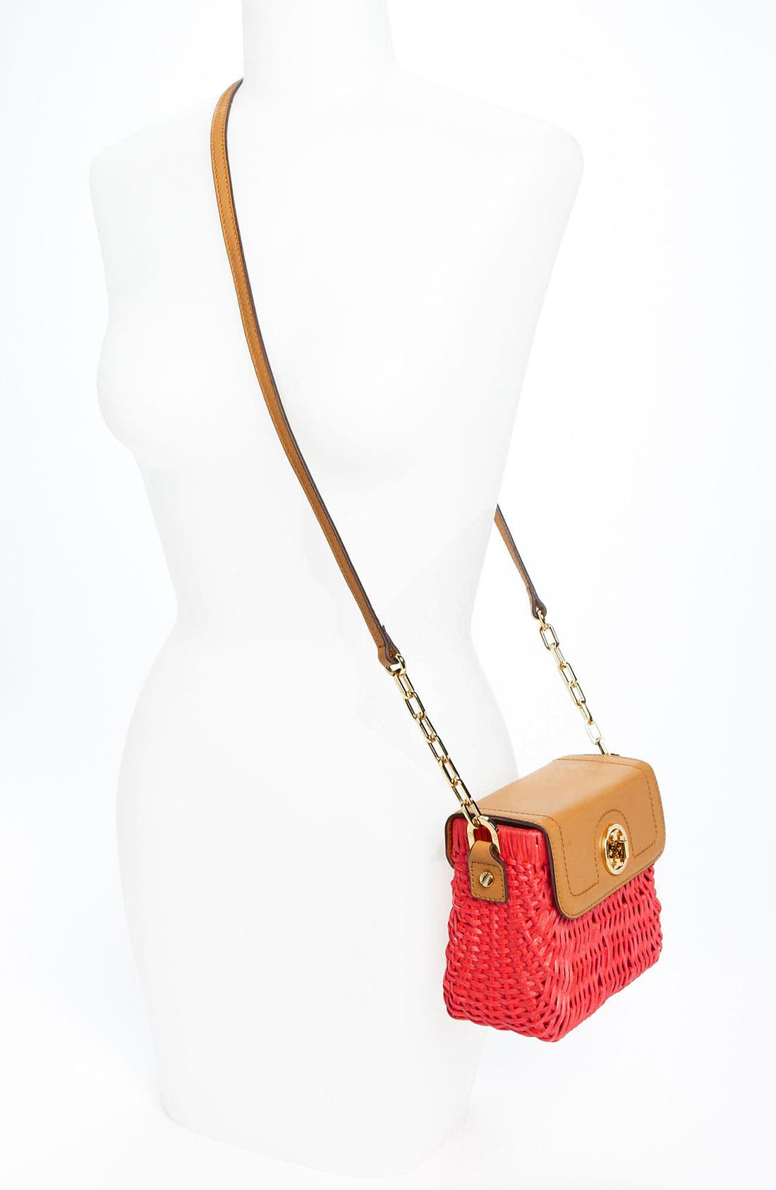 Alternate Image 2  - Tory Burch 'Mini' Lacquered Rattan Crossbody Bag