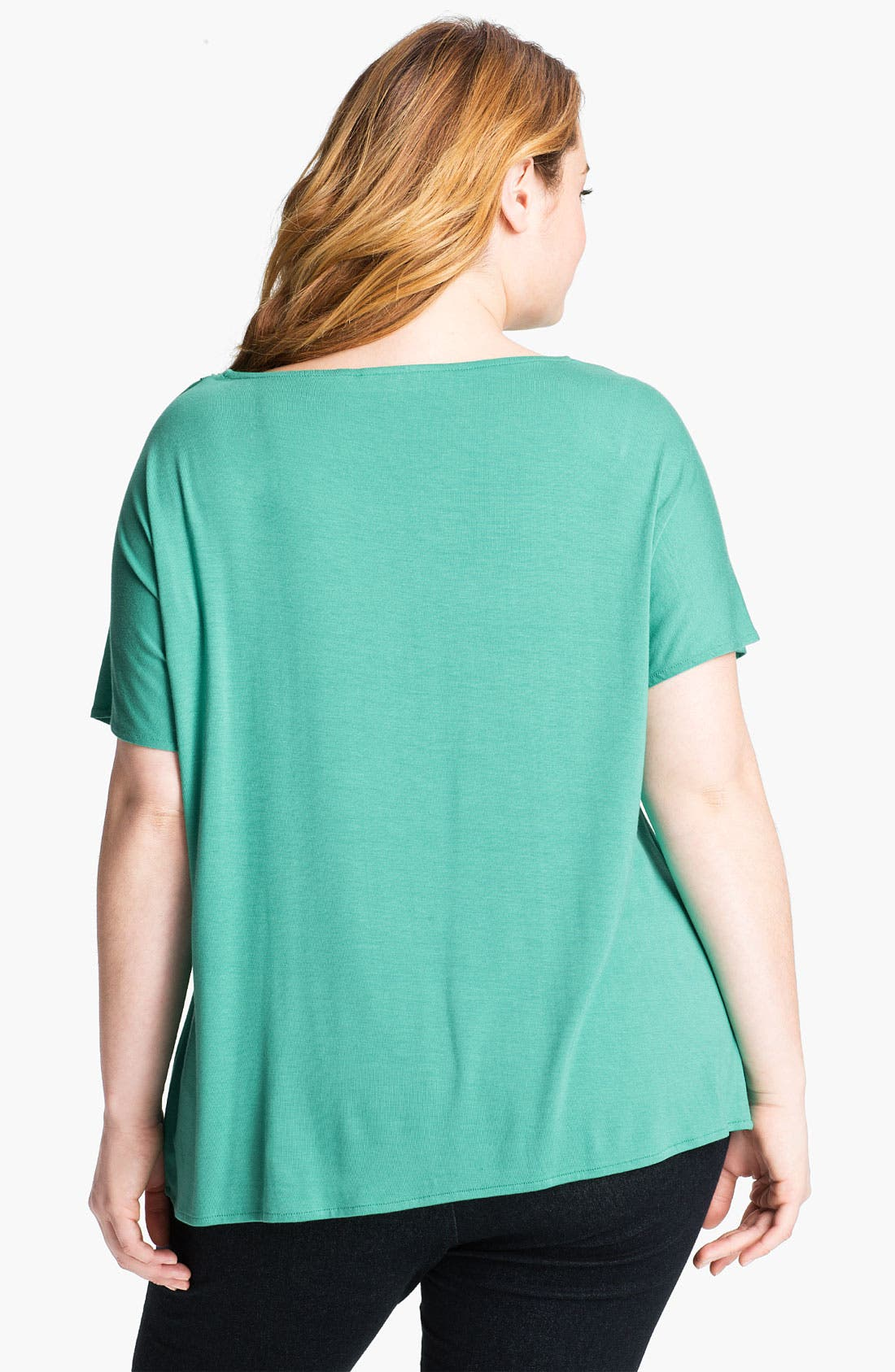 Alternate Image 2  - Sejour Drape Neck Tee (Plus)