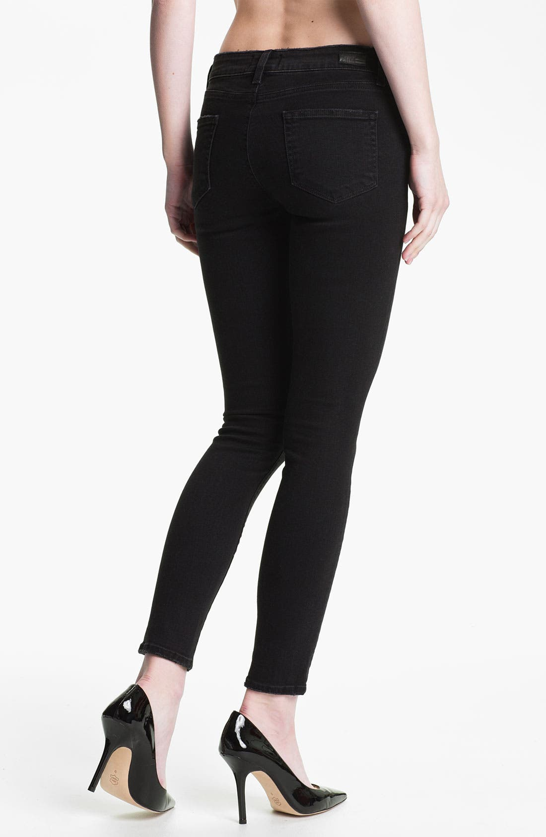 Alternate Image 2  - Paige Denim Zip Pocket Skinny Jeans (Vintage Black)