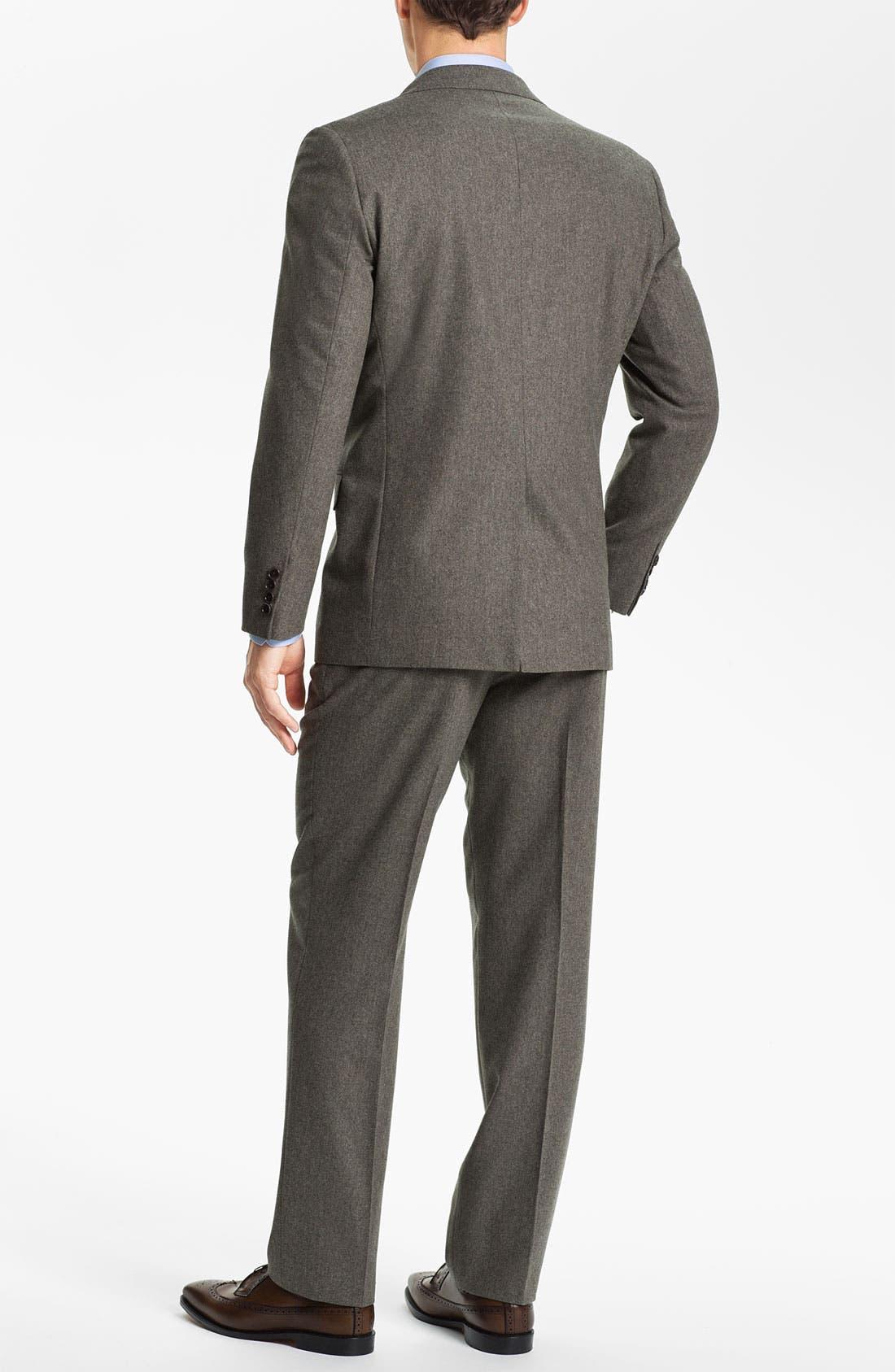 Alternate Image 3  - Brooks Brothers Tweed Wool Suit