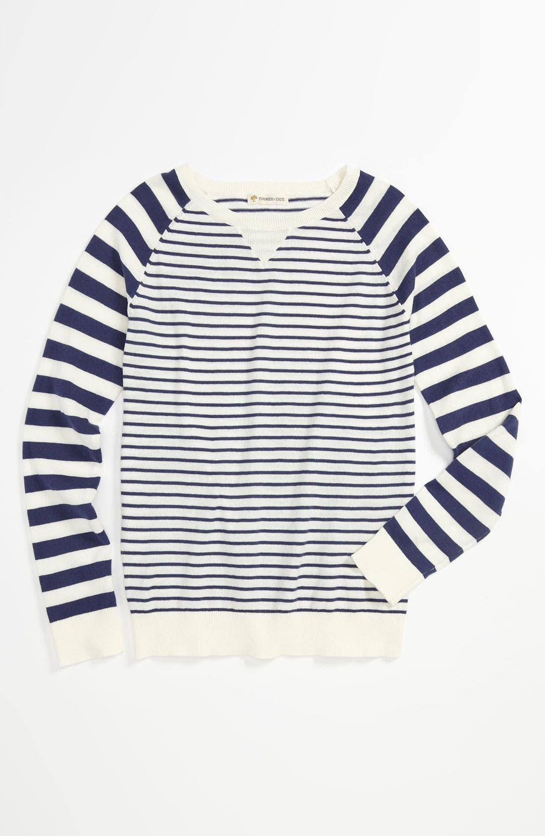 Main Image - Tucker + Tate 'Annalise' Stripe Sweater (Big Girls)