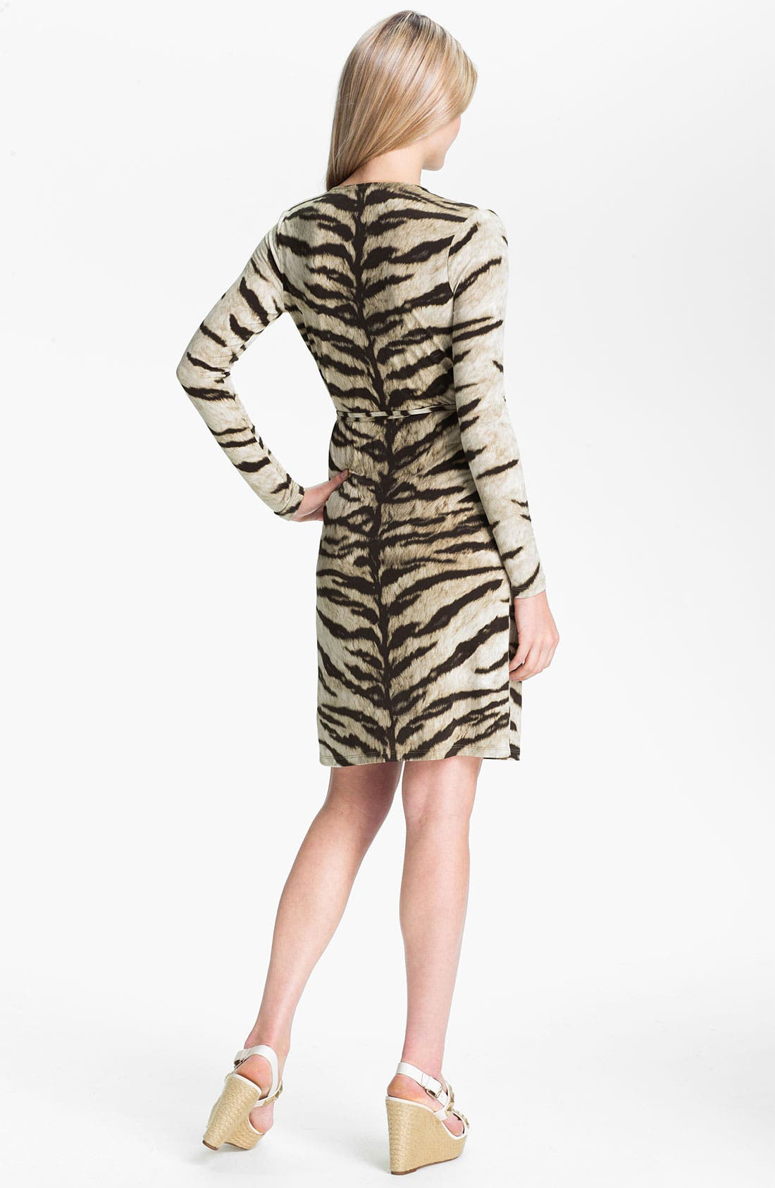 Alternate Image 2  - MICHAEL Michael Kors Tiger Print Wrap Dress