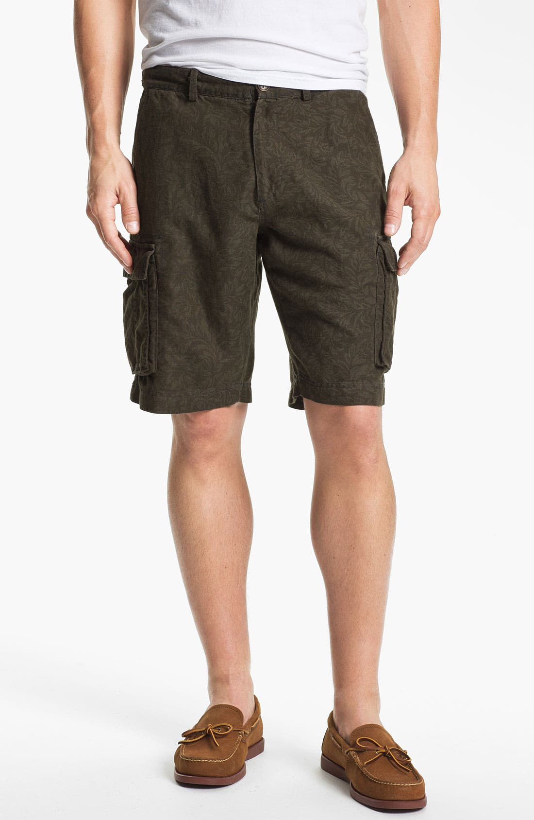 Main Image - Wallin & Bros. 'Woodland' Flat Front Cargo Shorts