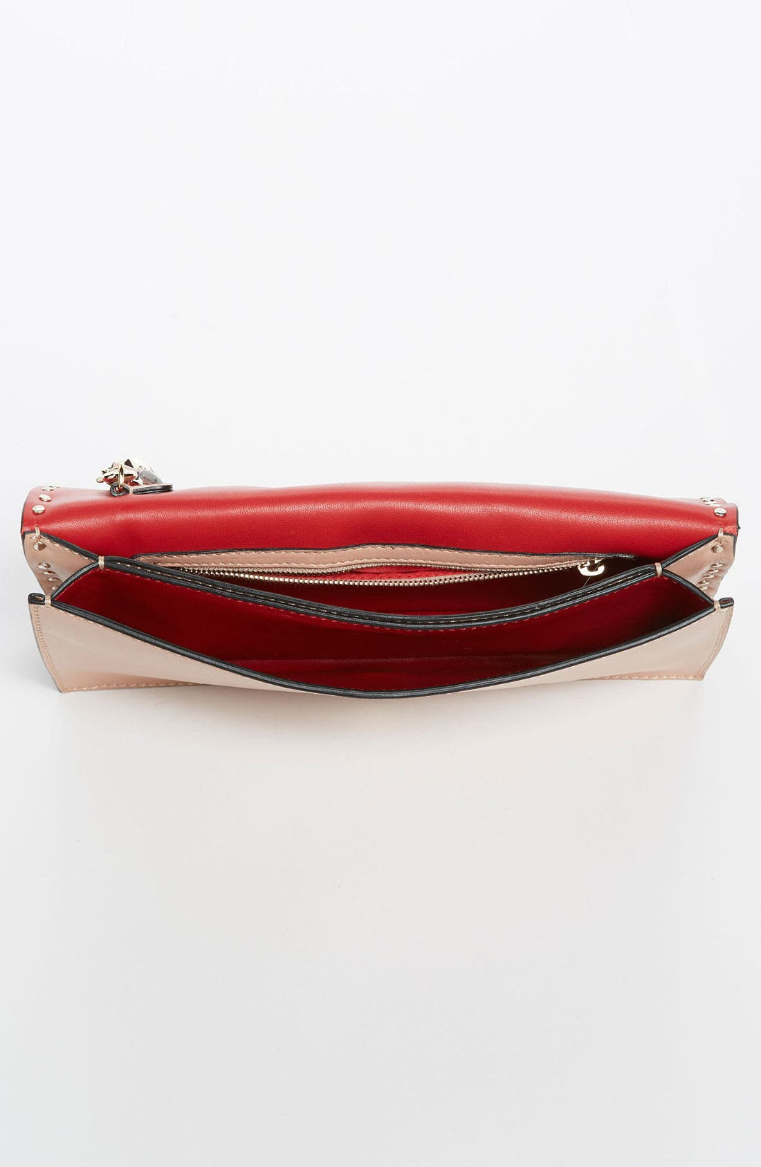 Alternate Image 3  - Valentino 'Rockstud' Nappa Leather Flap Clutch