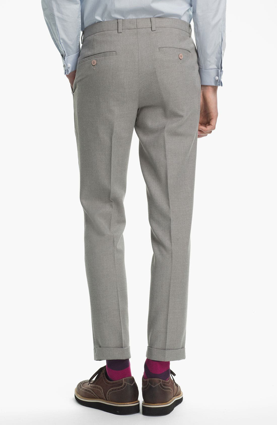 Alternate Image 2  - Topman Brushed Skinny Fit Trousers