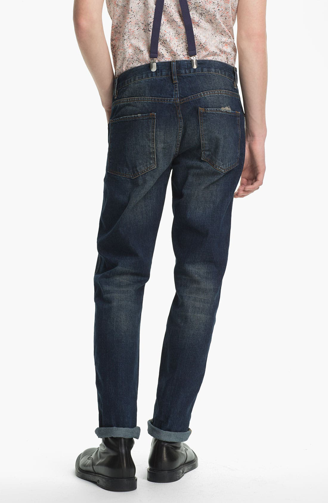 Alternate Image 1 Selected - Topman Slim Fit Jeans (Indigo)
