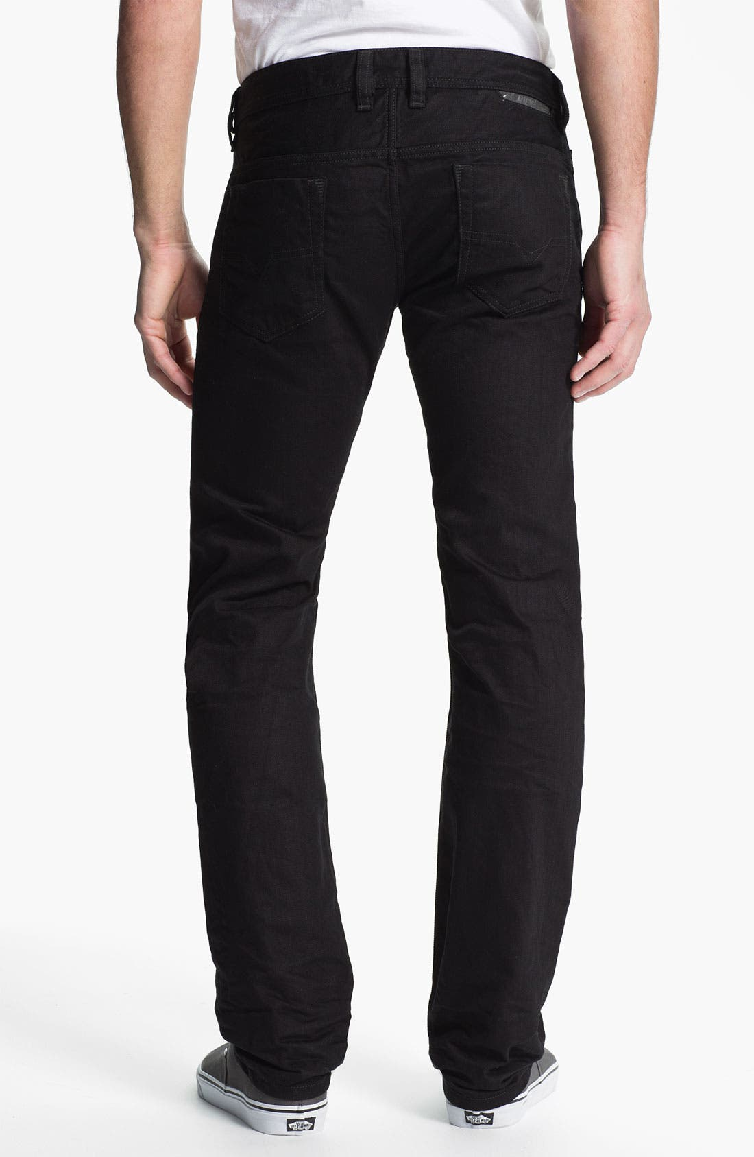 Alternate Image 2  - DIESEL® 'Safado' Slim Fit Jeans (Black)