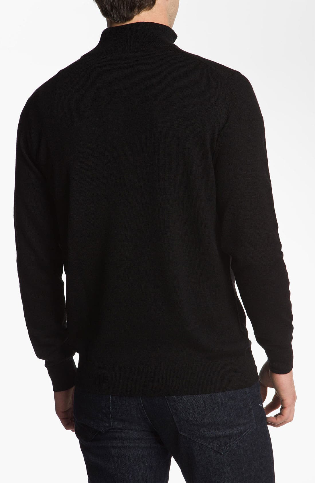 Alternate Image 2  - Lacoste Lambswool Mock Neck Sweater