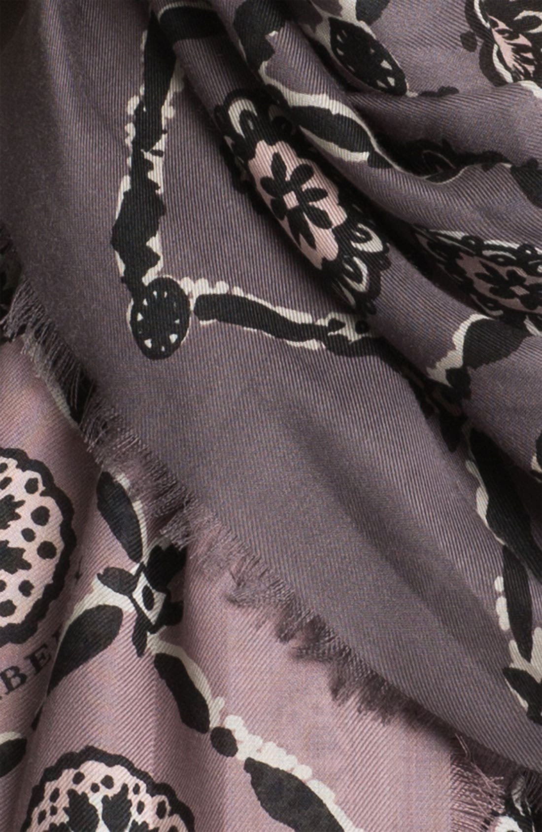 Alternate Image 2  - Burberry Printed Tile Floral Scarf