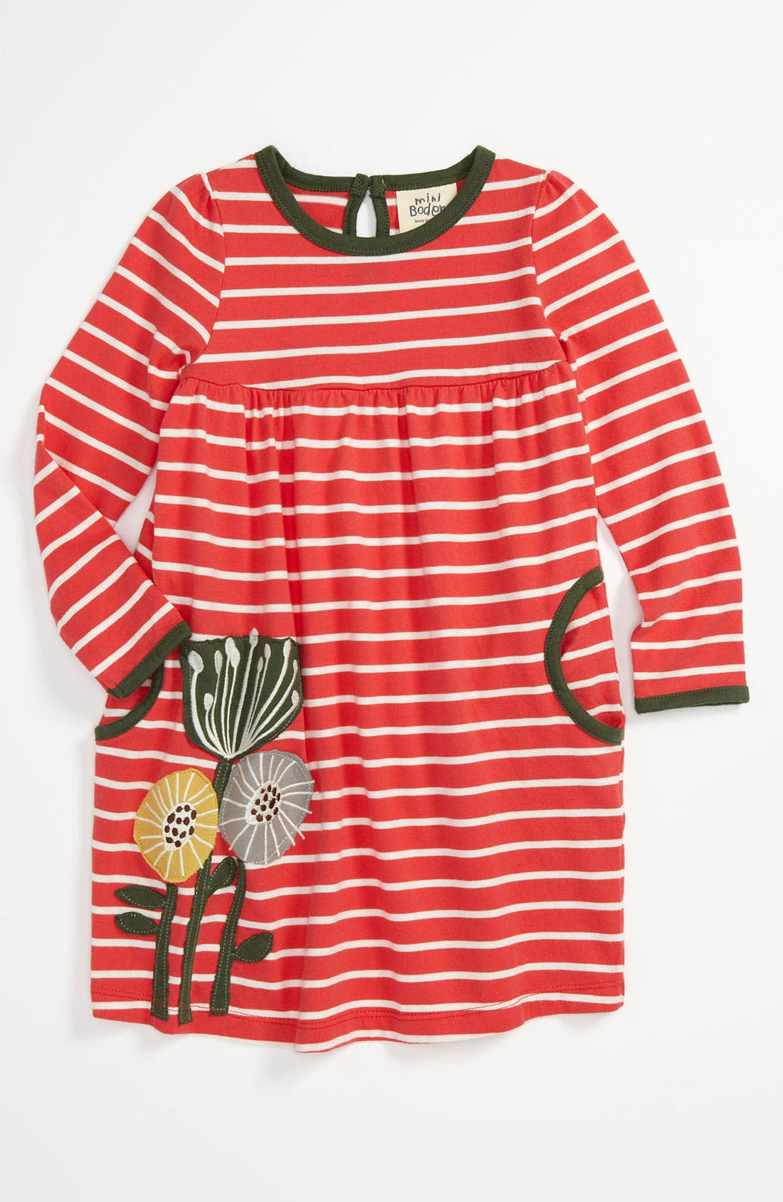 Main Image - Mini Boden 'Fun Appliqué' Dress (Toddler)