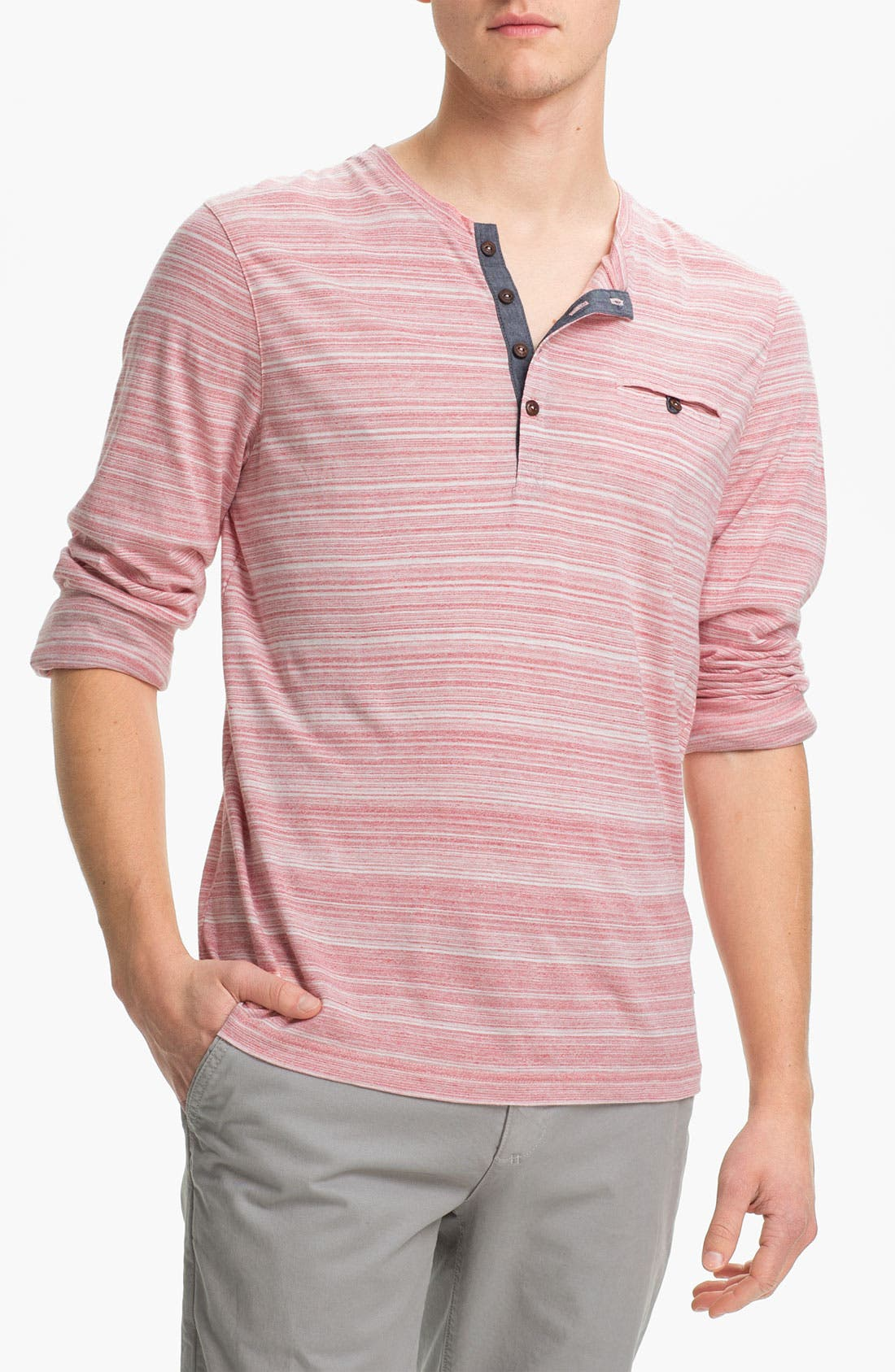 Alternate Image 1 Selected - Ted Baker London 'Eclaire' Henley T-Shirt