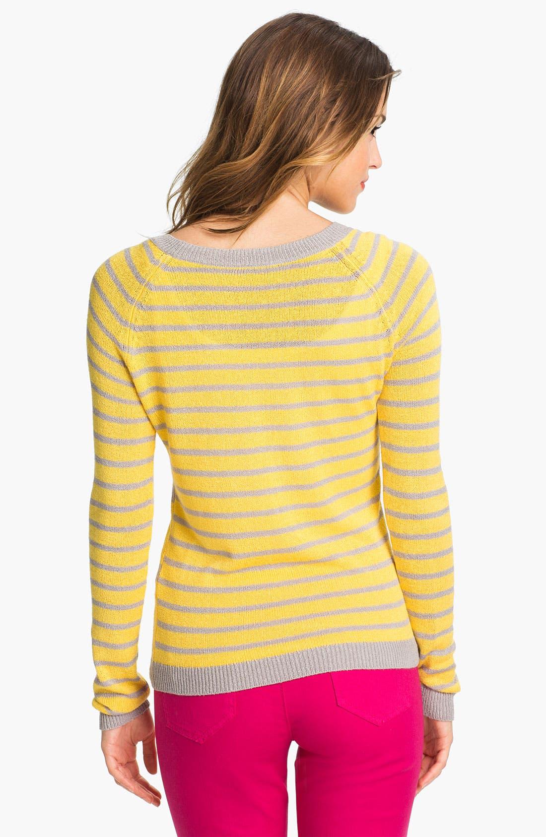 Alternate Image 2  - Caslon 'Geo Stripe' Crewneck Sweater
