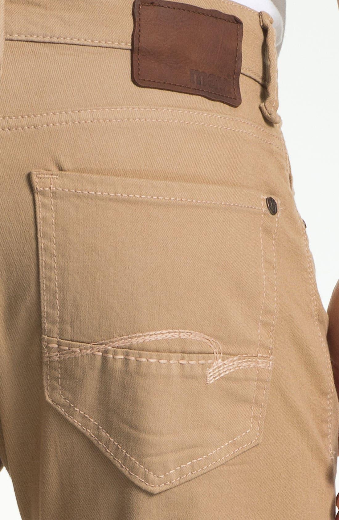 Alternate Image 4  - Mavi 'Zach' Straight Leg Jeans (Sand)