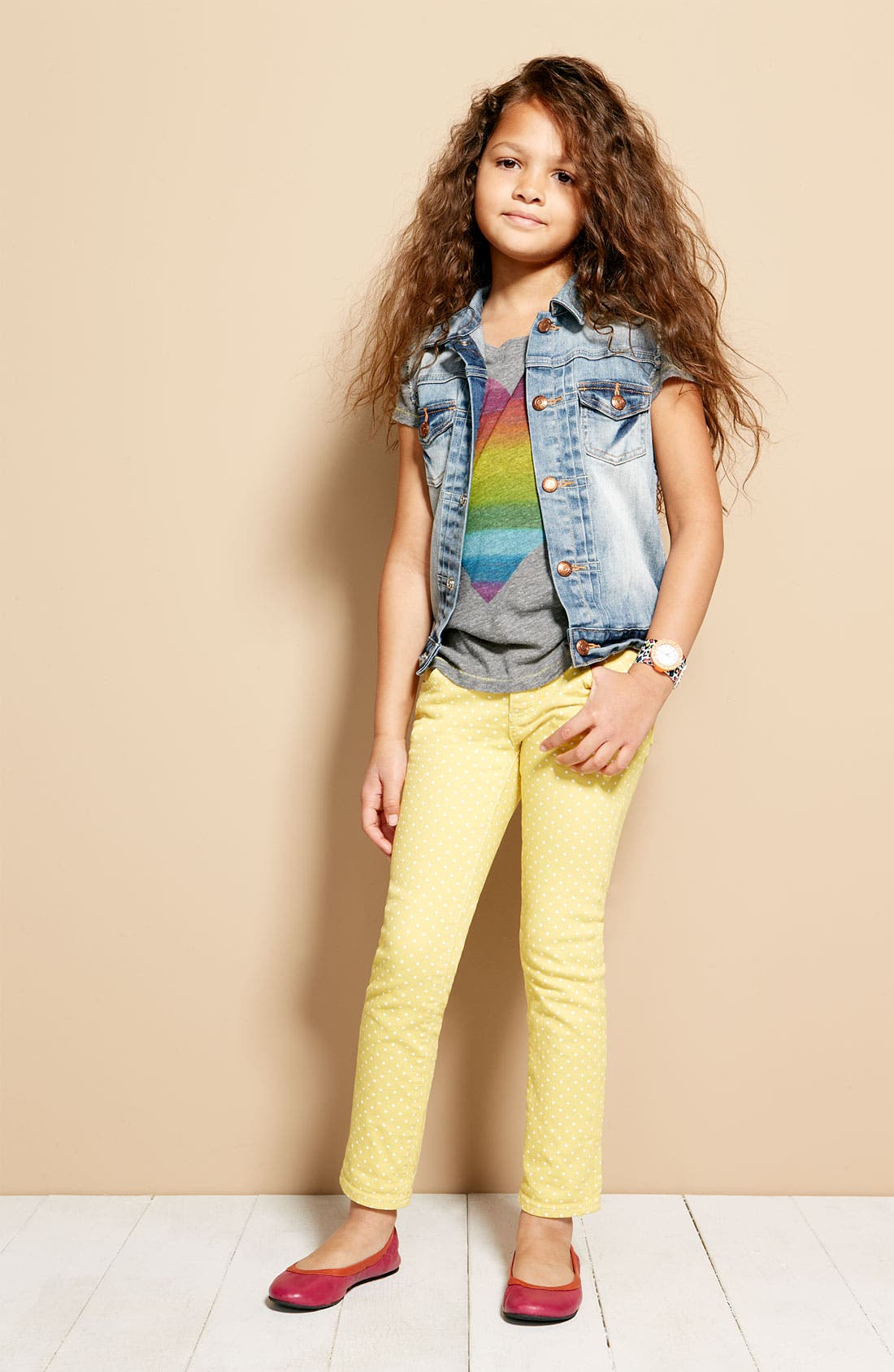 Alternate Image 3  - Peek 'Audrey' Jeans (Toddler, Little Girls & Big Girls)