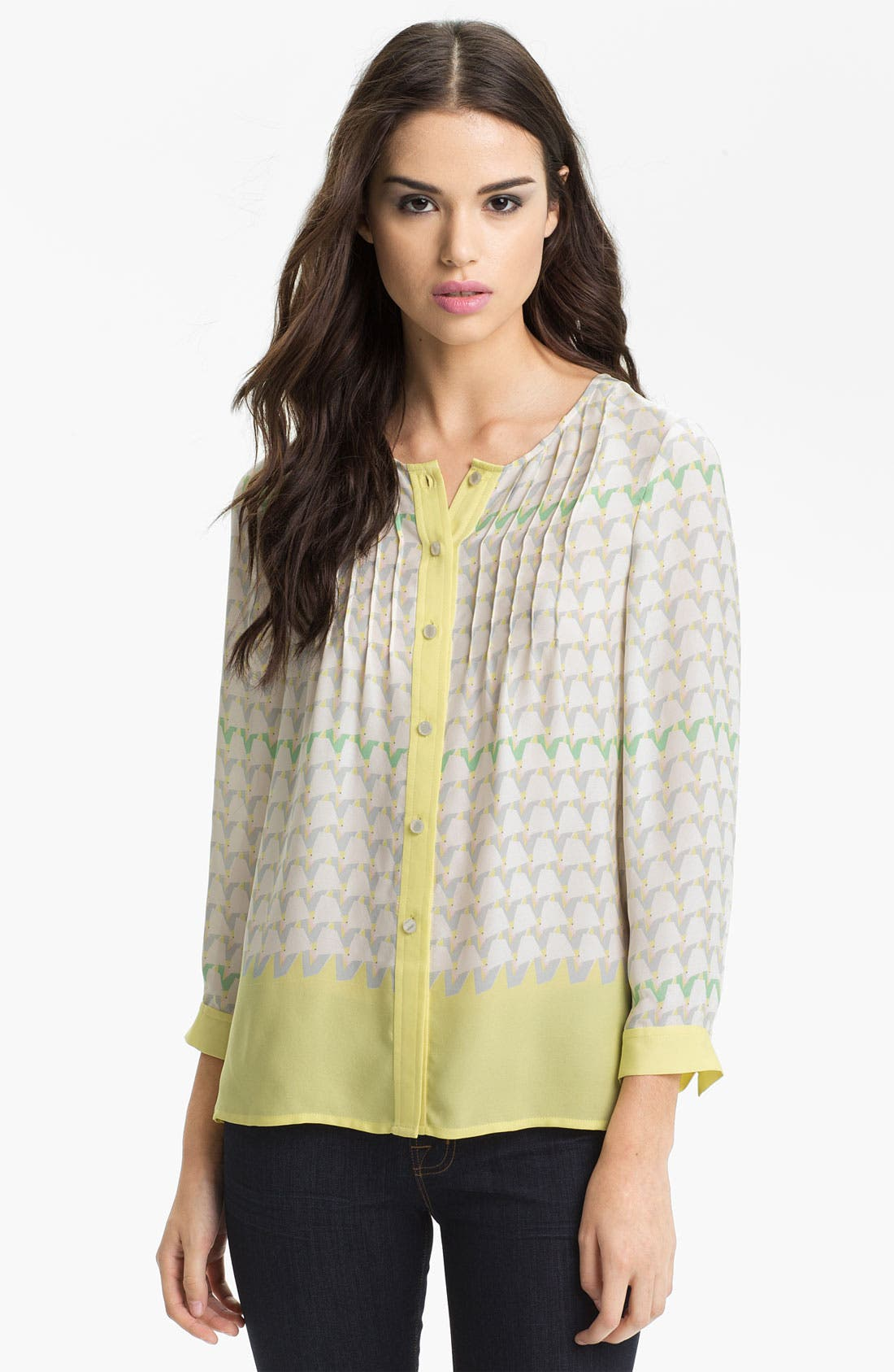 Main Image - MARC BY MARC JACOBS 'Burnside' Print Silk Blouse