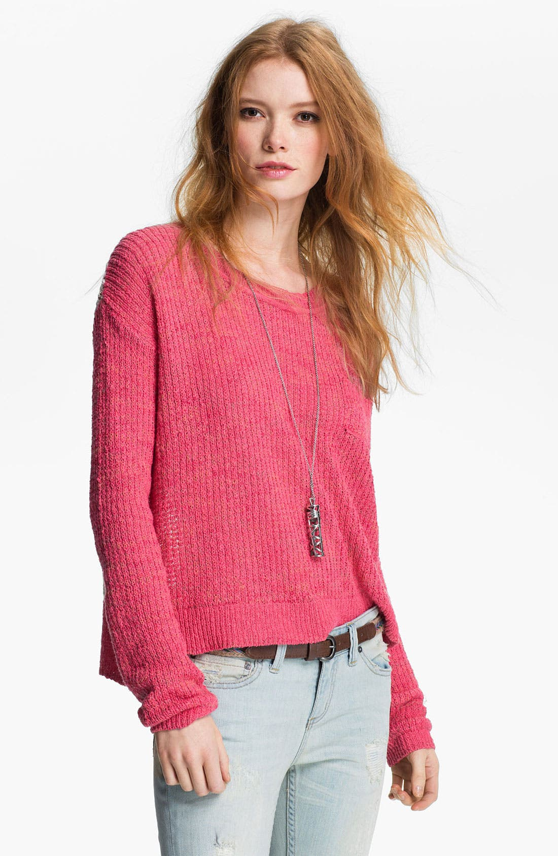Alternate Image 1 Selected - Free People 'Sweet Jane' Lace Back Sweater