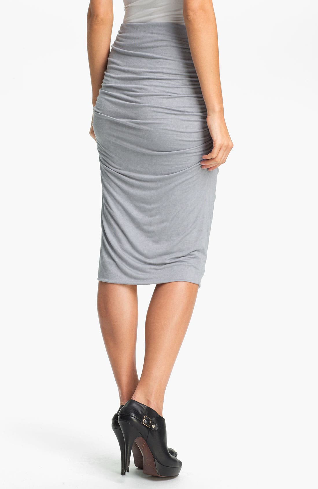 Alternate Image 2  - Olivia Moon Ruched Midi Skirt (Online Only)