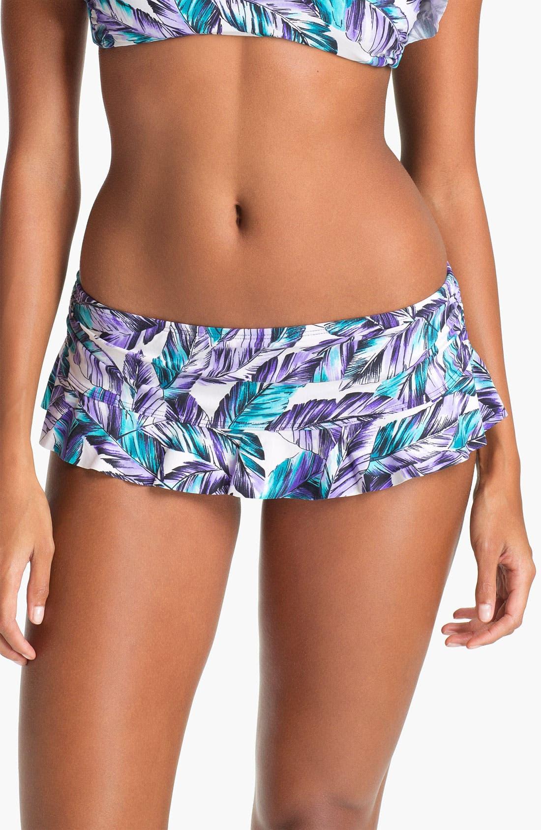 Ruffle Hipster Bikini Bottoms,                         Main,                         color, Purple
