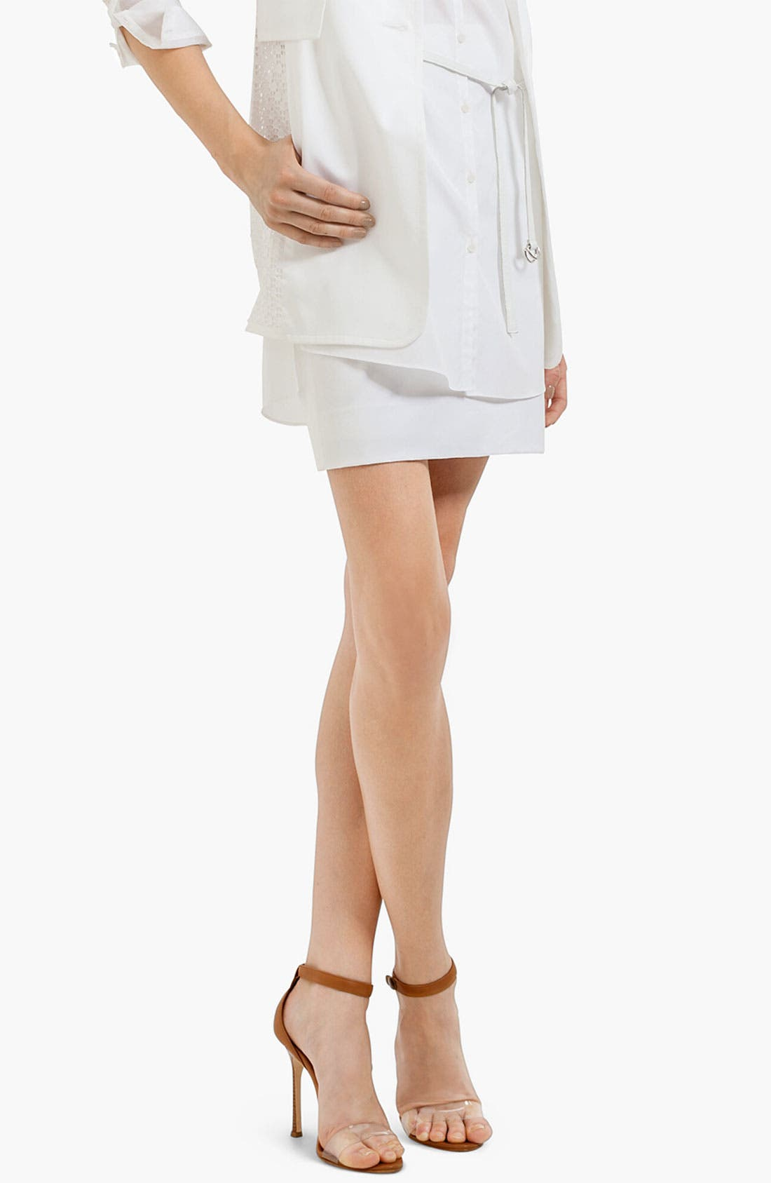 Main Image - Akris punto Stretch Cotton Miniskirt