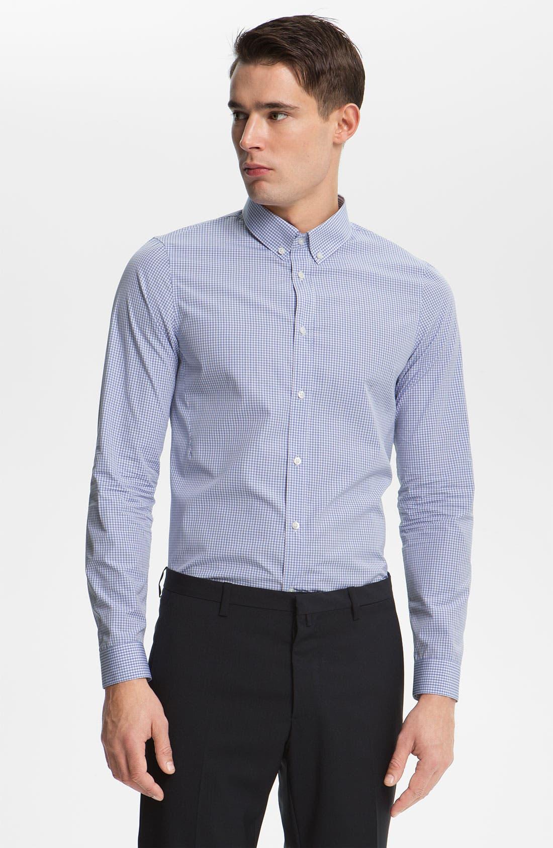 Alternate Image 1 Selected - Jil Sander Check Dress Shirt