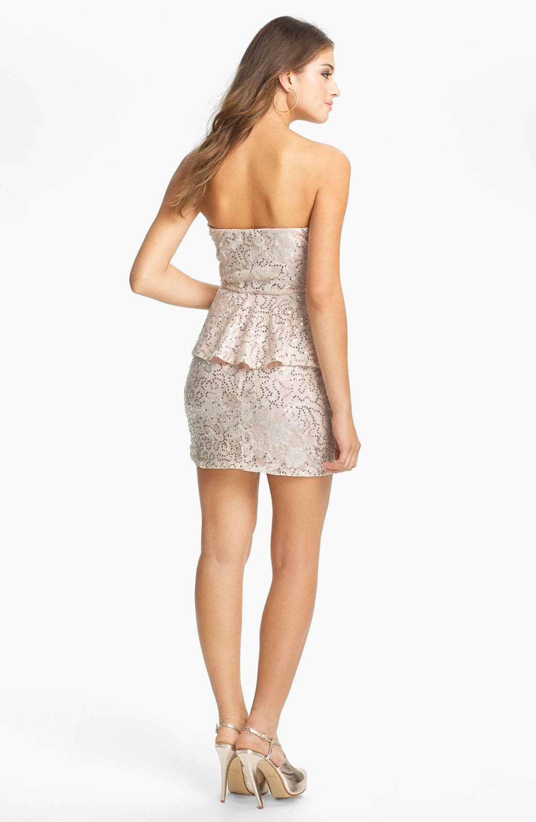 Alternate Image 2  - As U Wish Embellished Lace Body-Con Dress (Juniors) (Online Exclusive)