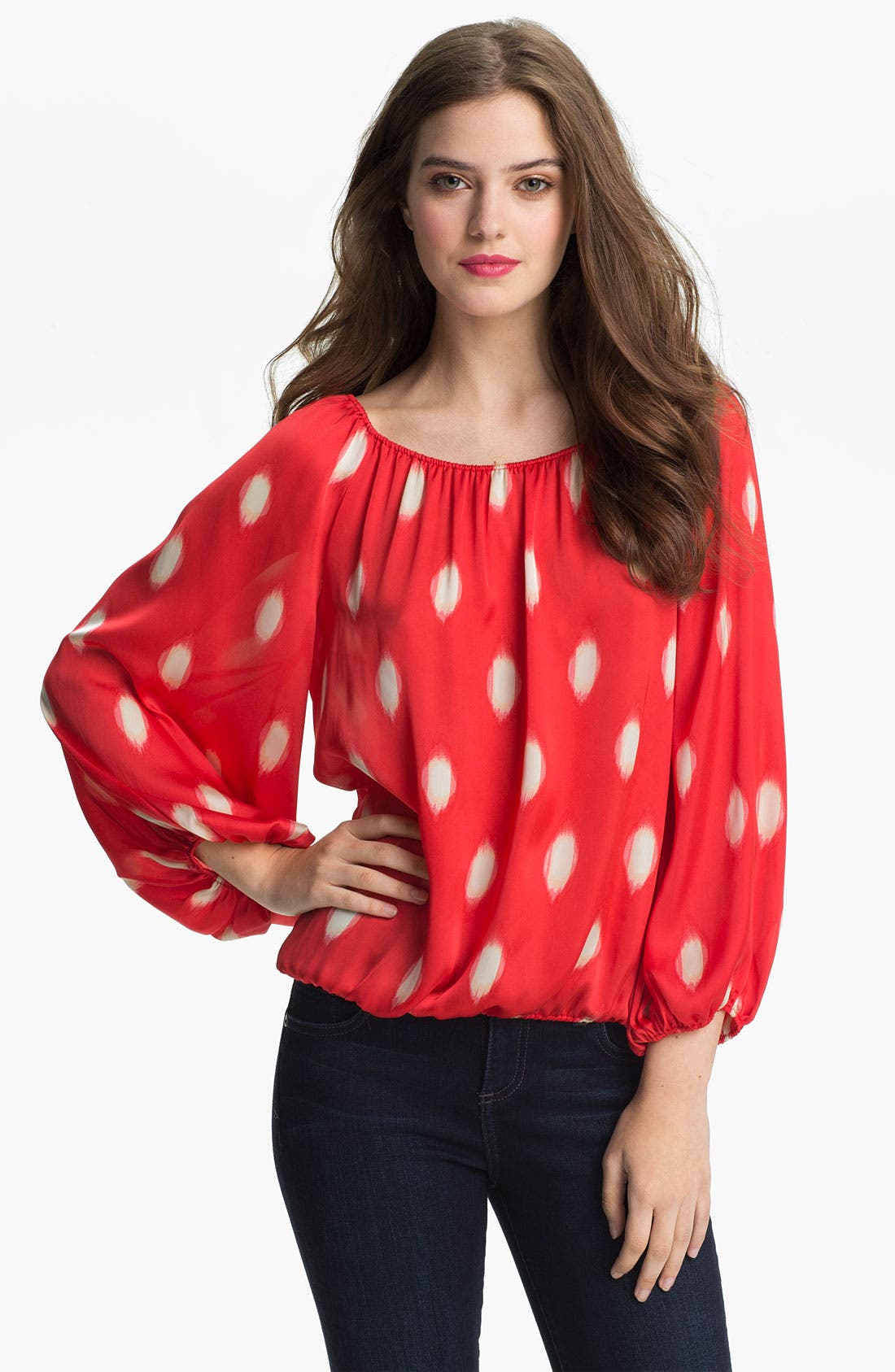 Main Image - Vince Camuto 'Water Drops' Peasant Blouse