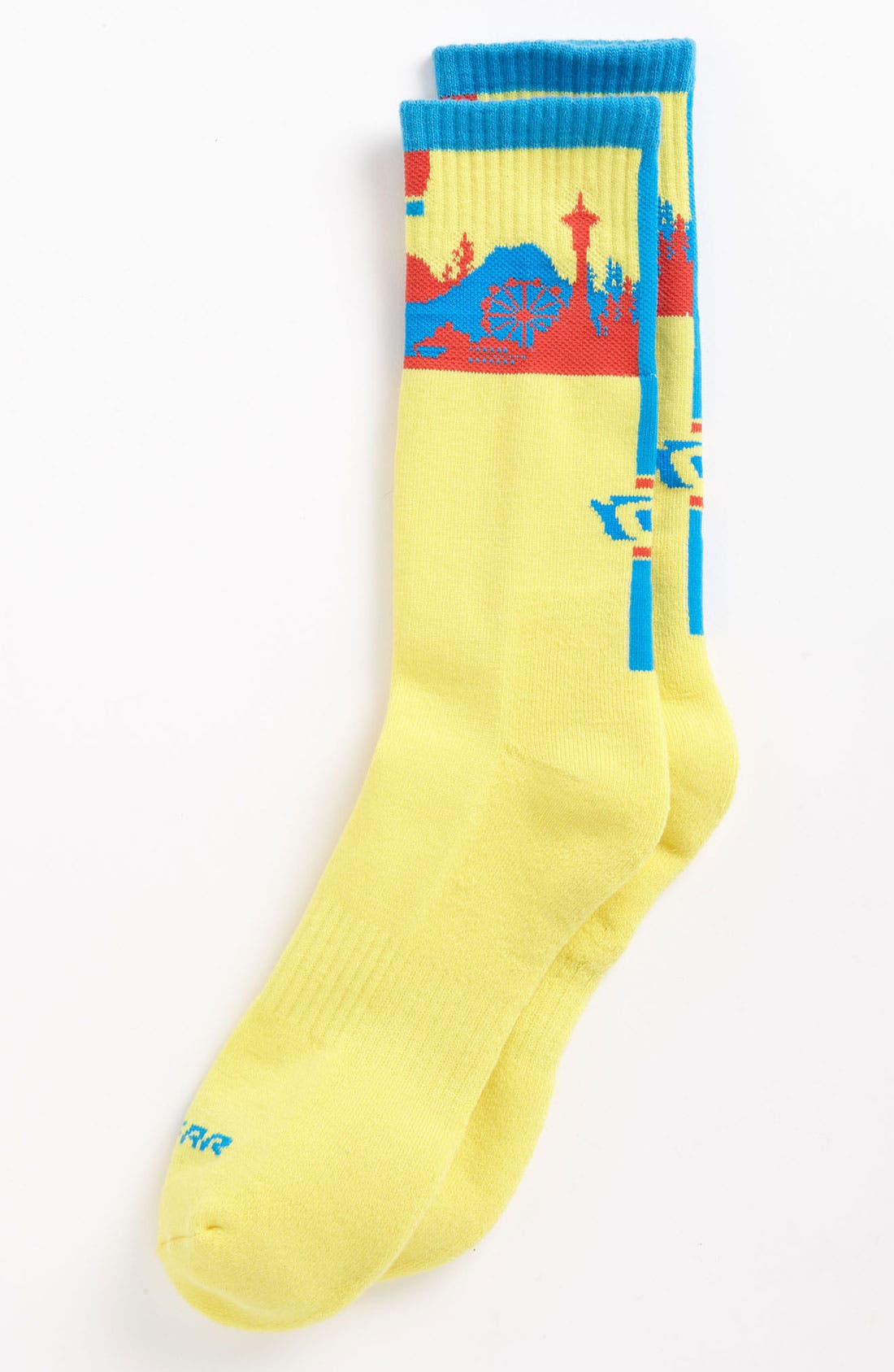 Alternate Image 1 Selected - G 206 Wear 'Seattle Skyline' Socks (Big Kid)