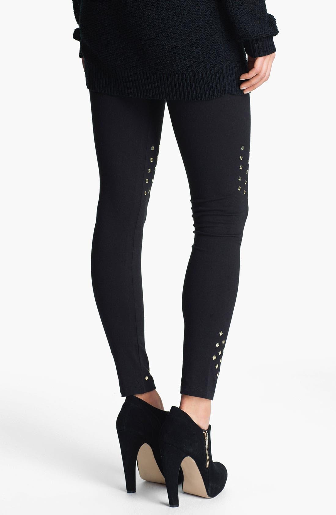 Alternate Image 2  - Mimi Chica Studded Leggings (Juniors)