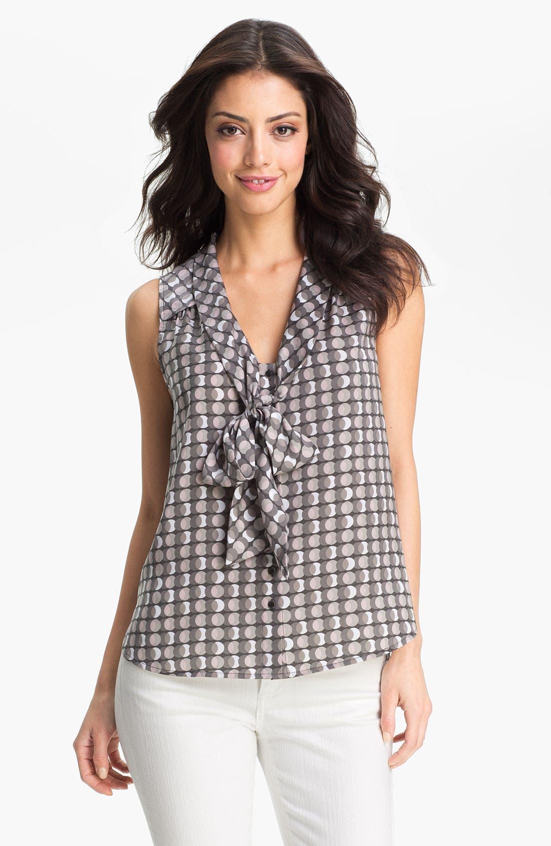 Main Image - Halogen® Sleeveless Tie Neck Blouse