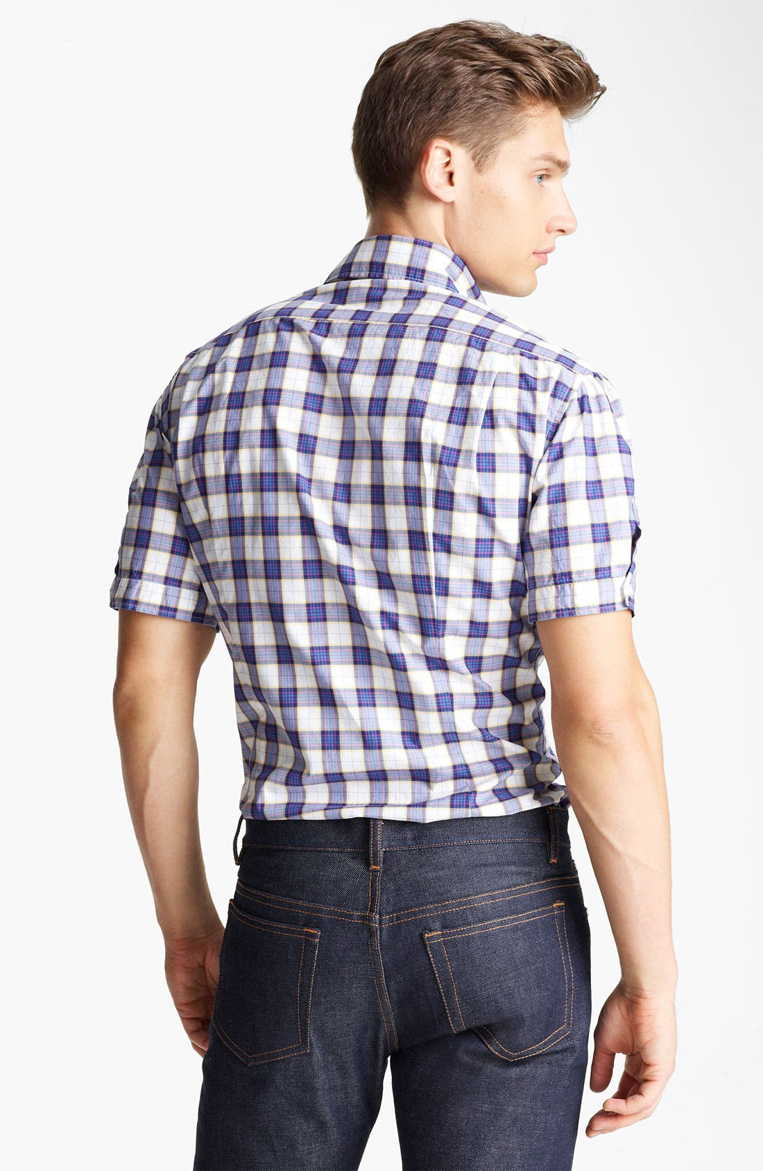 Alternate Image 2  - Michael Bastian Check Woven Shirt