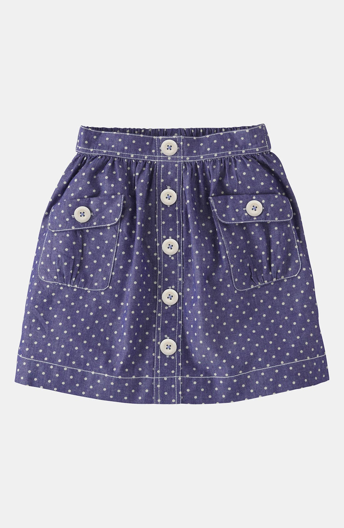 Main Image - Mini Boden 'Spotty' Chambray Skirt (Little Girls & Big Girls)